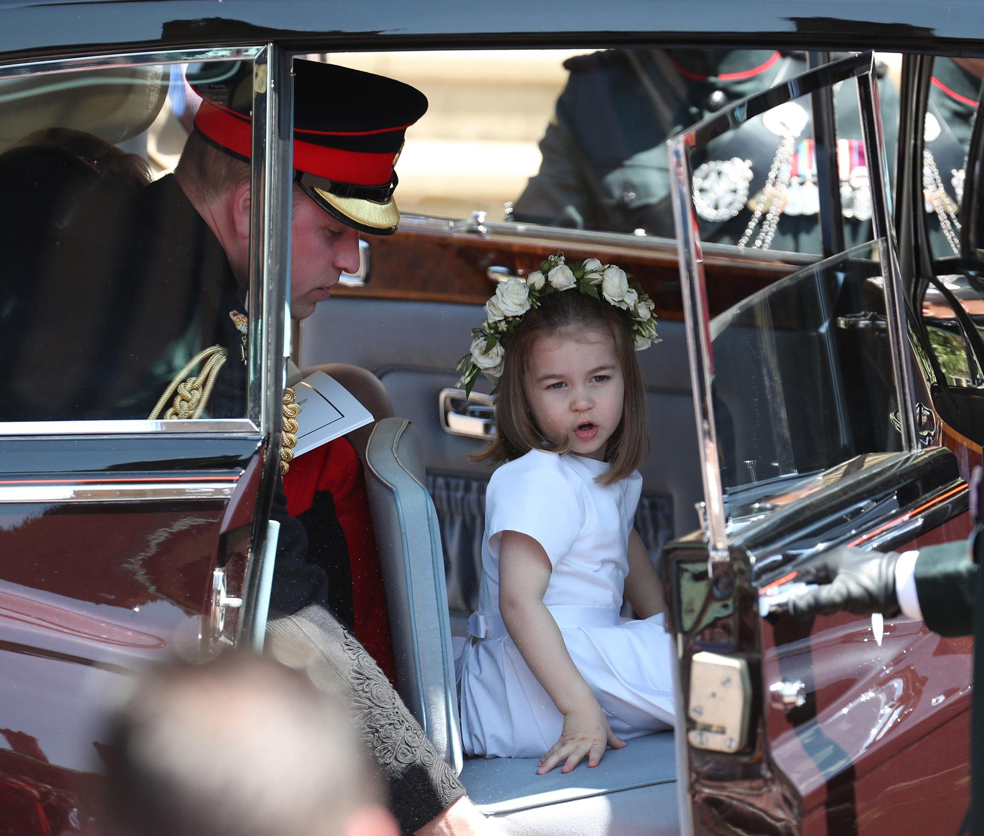 El príncipe William y Charlotte (AFP)