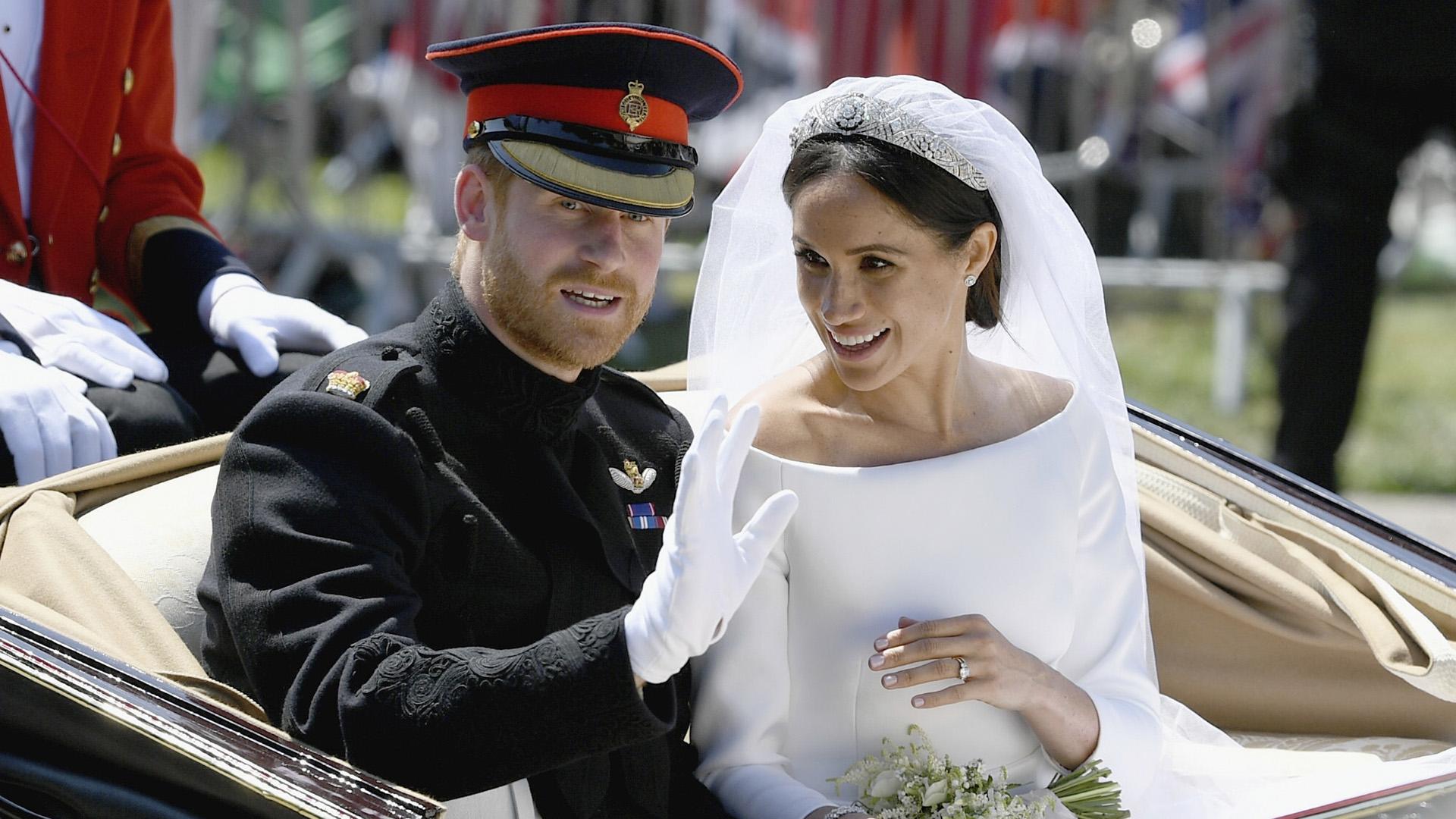 """Meghan Markle y el príncipe Harry preparan una luna de miel """"secreta"""" (Jeff J Mitchell/ AP)"""