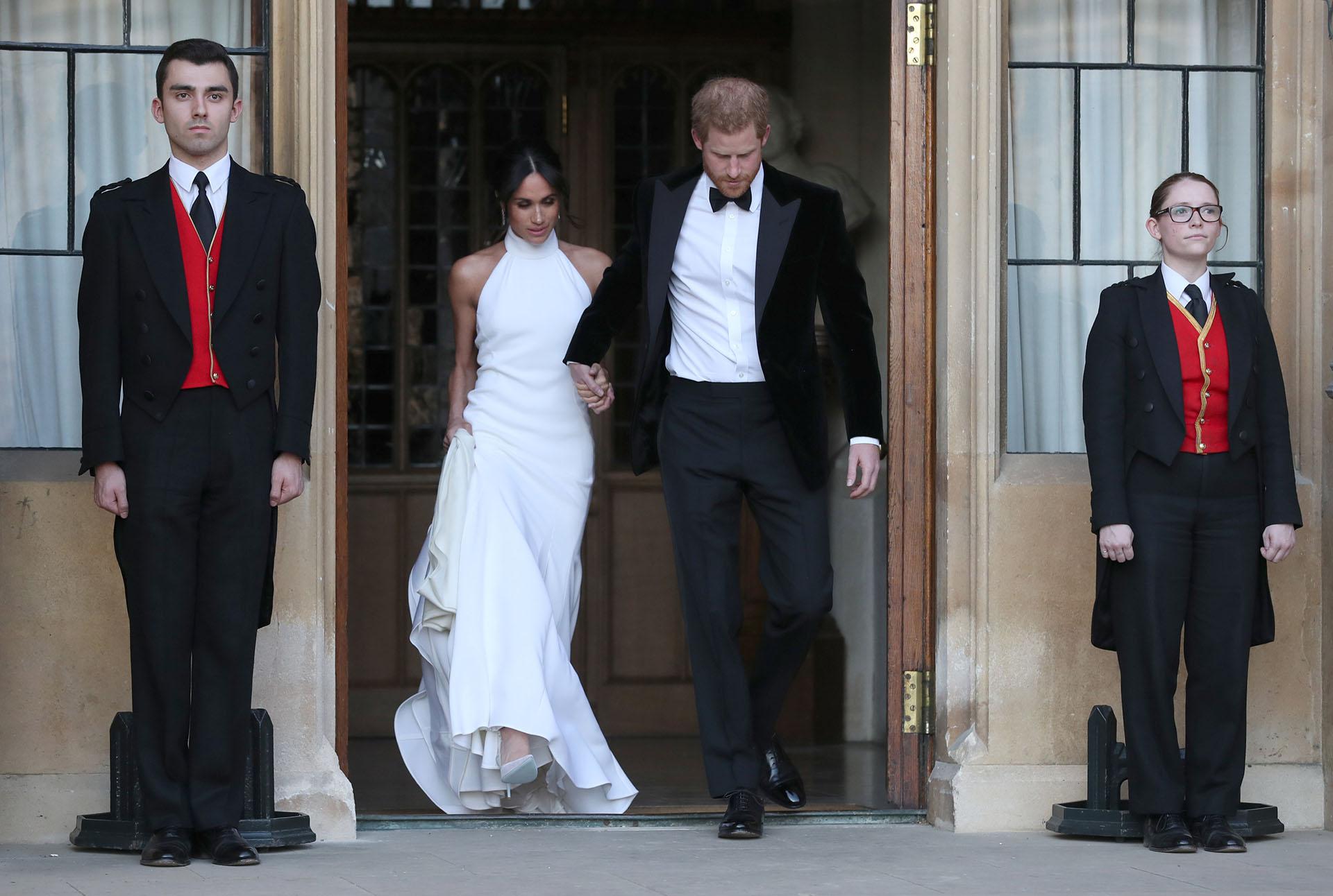 Tras la ceremonia en la capilla St George, Meghan Markle y el príncipe Harry se dirigieron al Castillo de Windsor para la recepción íntima (Reuters)
