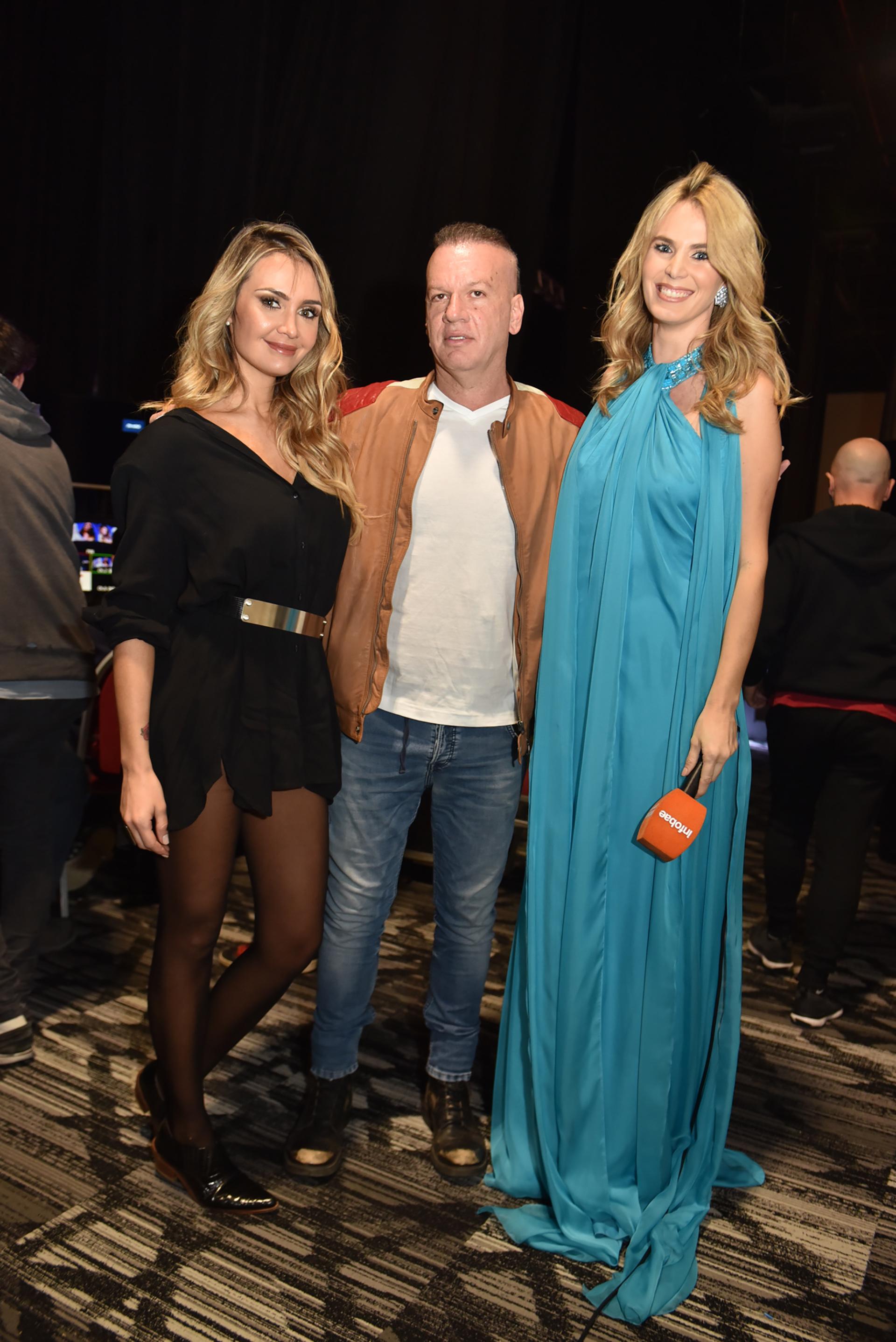 Melina Pitra, Leandro Rud y Rocío Vivas en backstage a punto de empezar el tan esperado desfile de Silkey