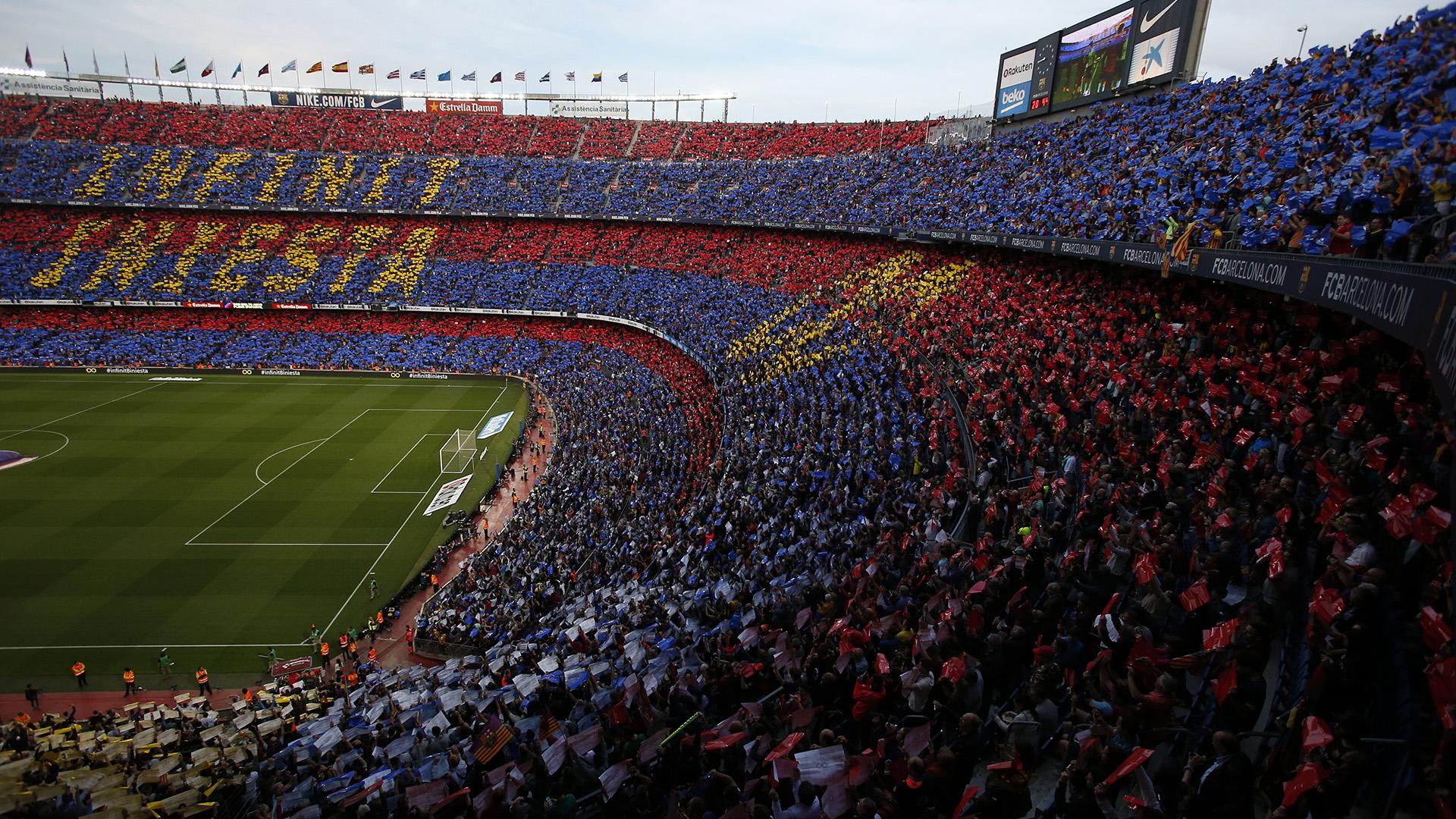 El mosico gigante que cubrió todo el Camp Nou