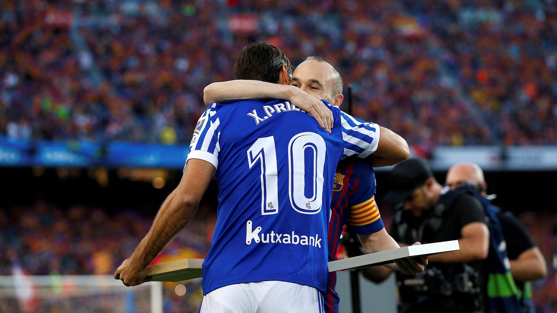 Él y Xavi Prieto se retiraron de sus respectivos clubes