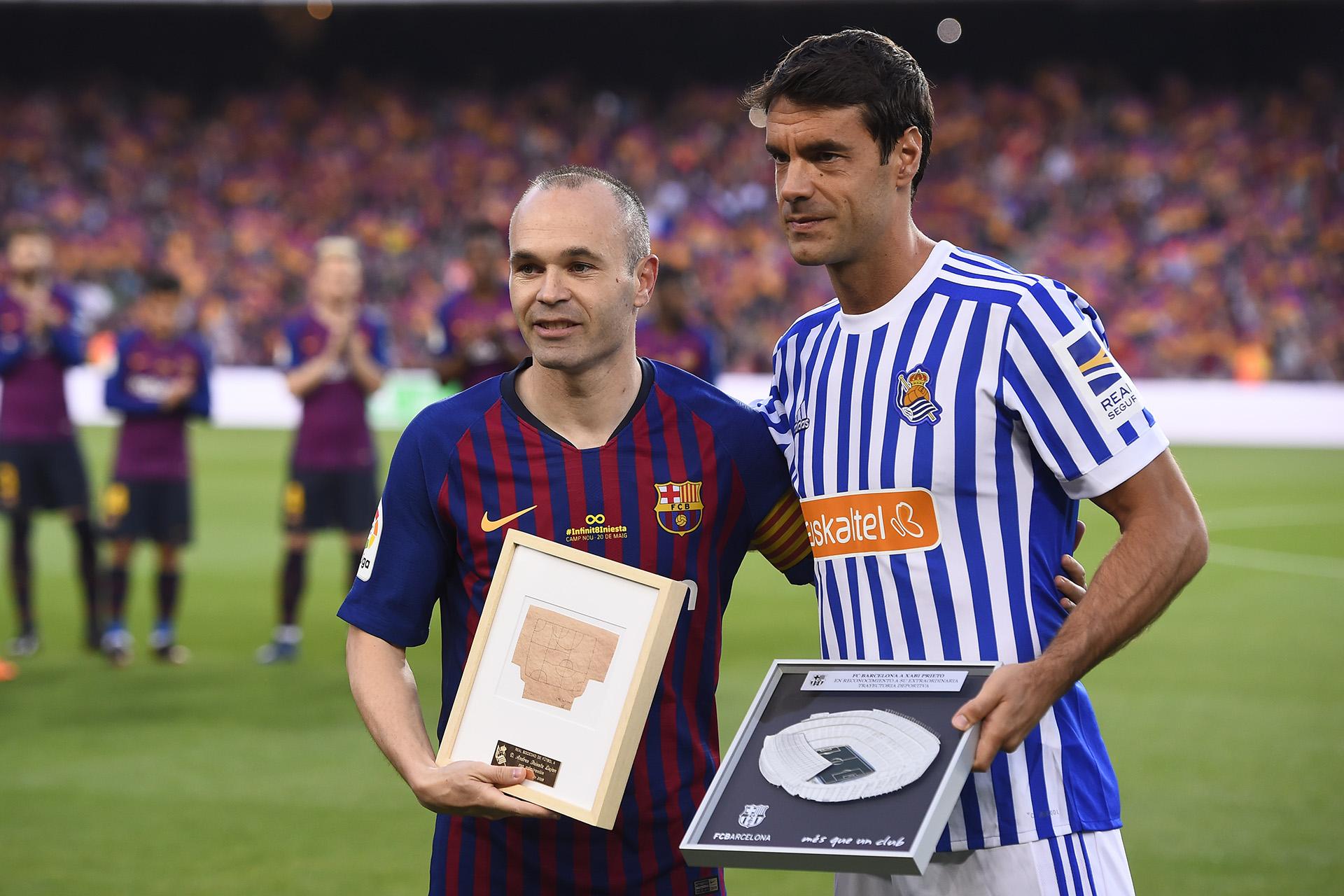 Andrés Iniesta se despidió del Barcelona