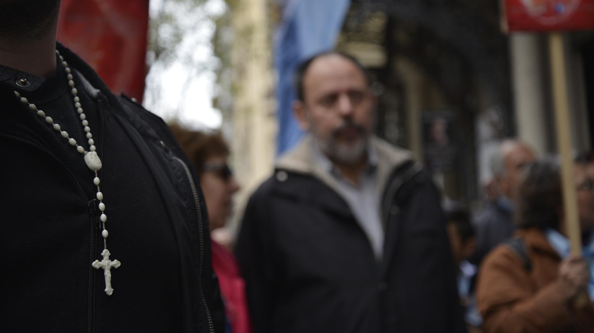 Fueron más de cinco cuadras de manifestantes las que marcharon por el centro porteño