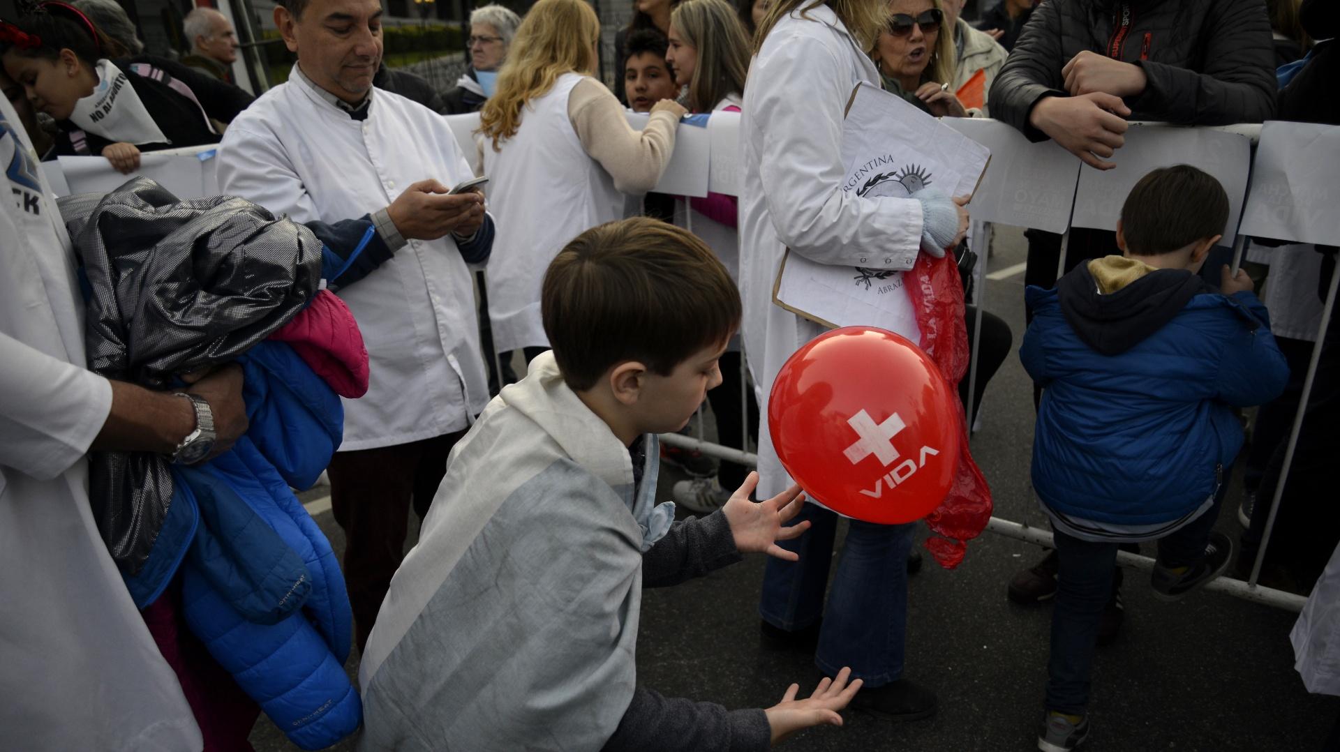 Además de la agrupación +Vida participaron de la marcha Argentina Pro Vida, la Alianza Cristiana de Iglesias Evangélicas de la República Argentina (ACIERA) y la Red Federal de Familias.