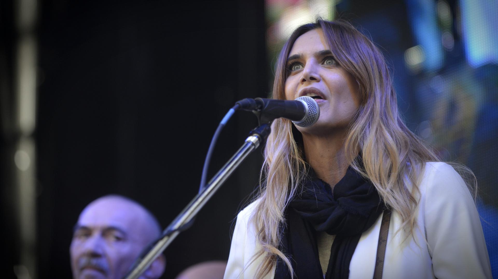 La modelo Amalia Granata, una de las figuras del medio que participó del evento