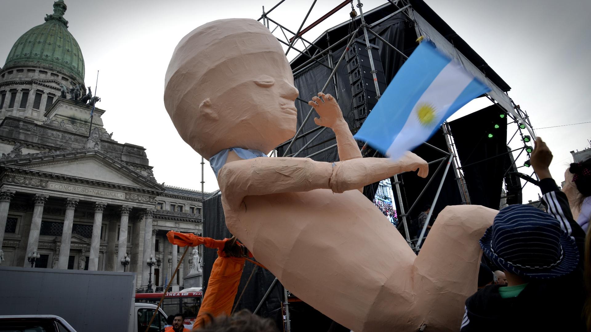 Alma, símbolo en cada marcha contra la legalización del aborto