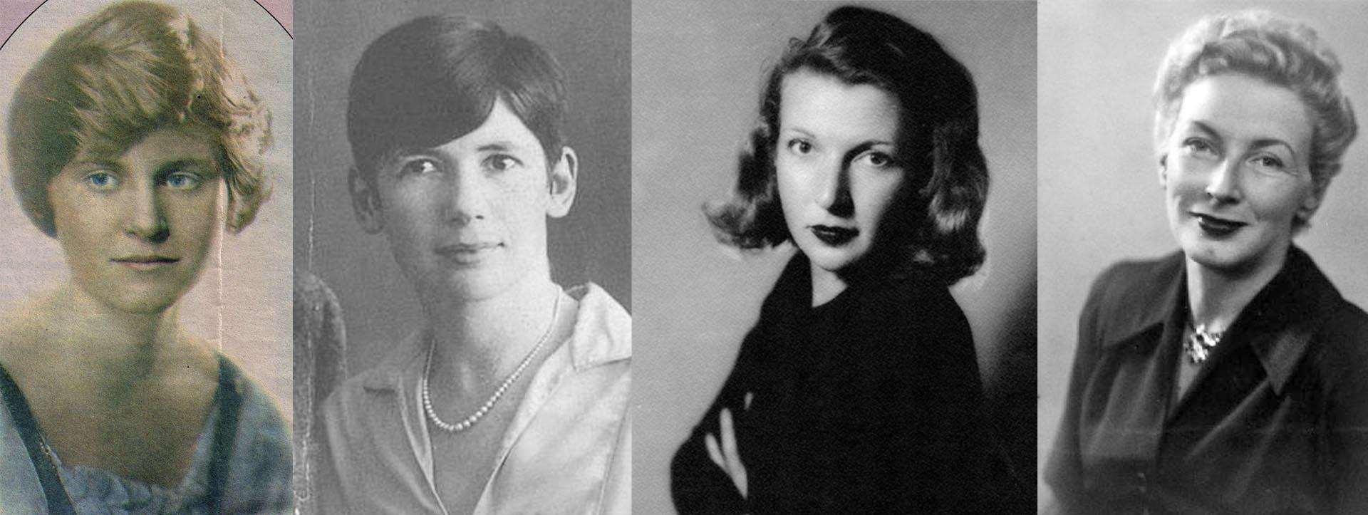 Sus cuatro esposas: Hadley Richardson (1921-1927); Pauline Pfeiffer (1927-1940), Martha Gellhorn, una de las corresponsales de guerra más importantes de la historia (1940-1945), y Mary Welsh, de 1946 hasta su suicidio en 1961