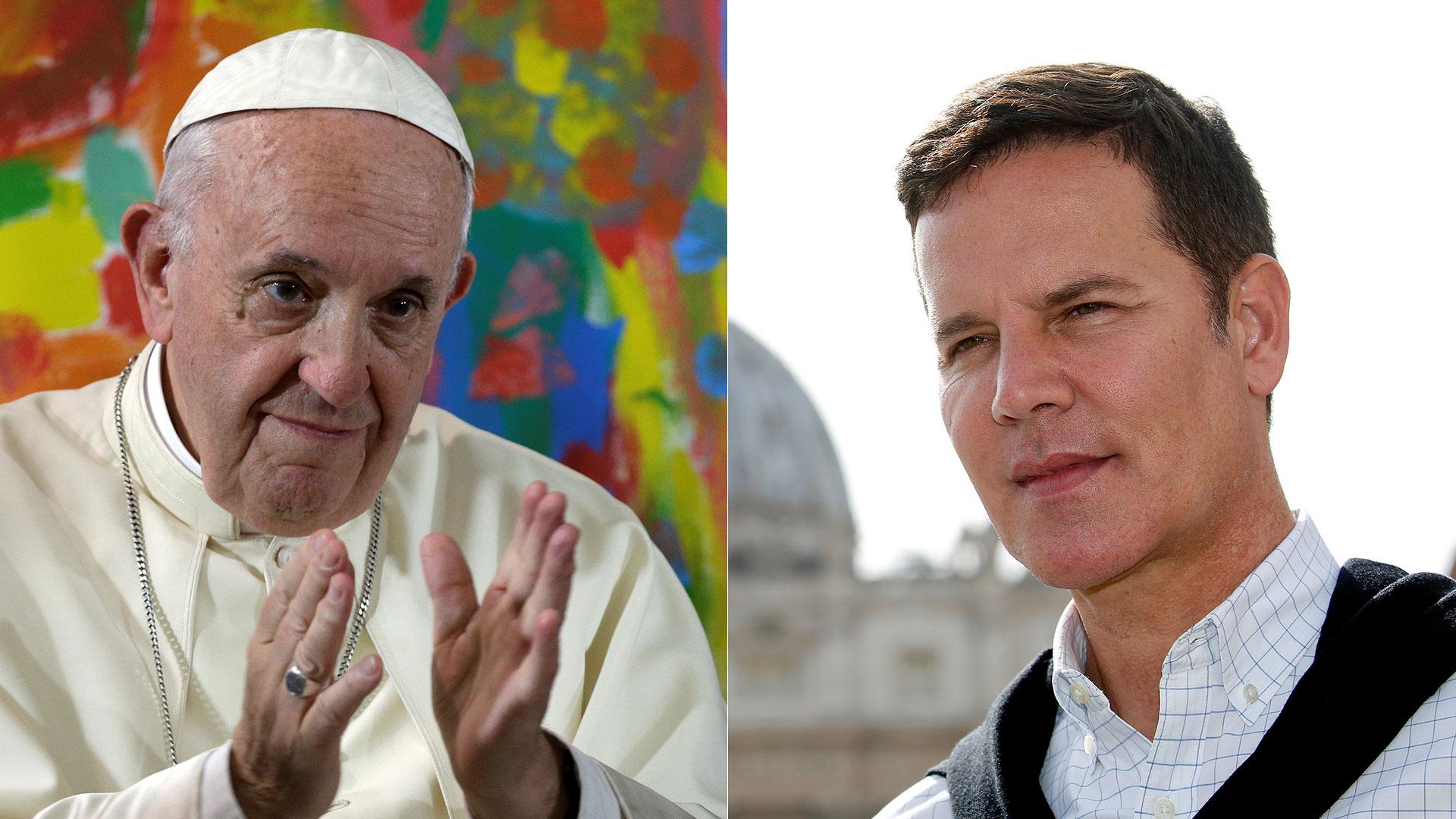 Papa Francisco y Juan Carlos Cruz (Reuters)