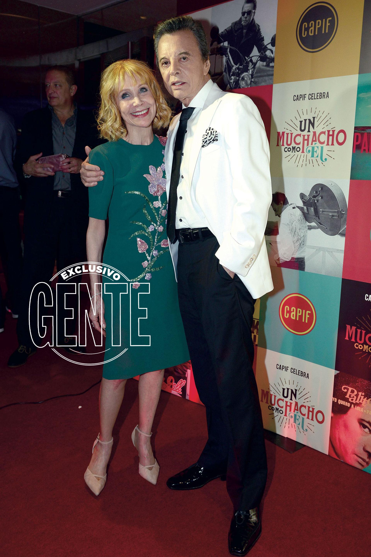 Evangelina Salazar y Ramon Palito Ortega. (Foto Diego Soldini/GENTE)
