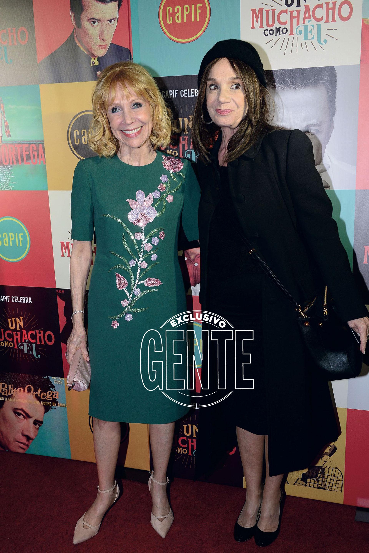 Evangelina Salazar y su amiga Ana María Picchio. (Foto Diego Soldini/GENTE)