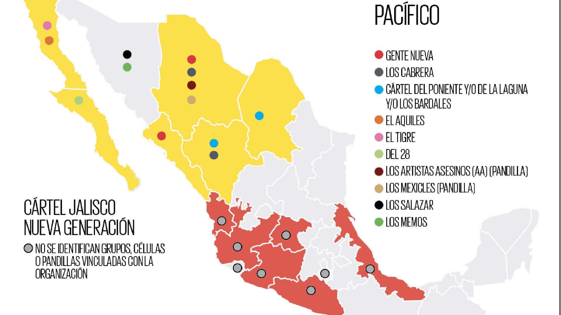 El Cártel De Sinaloa Una Hidra De 10 Cabezas En México