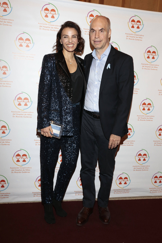 Horacio Rodríguez Larreta, jefe de Gobierno porteño con su esposa Bárbara Diez (Christian Bochichio)