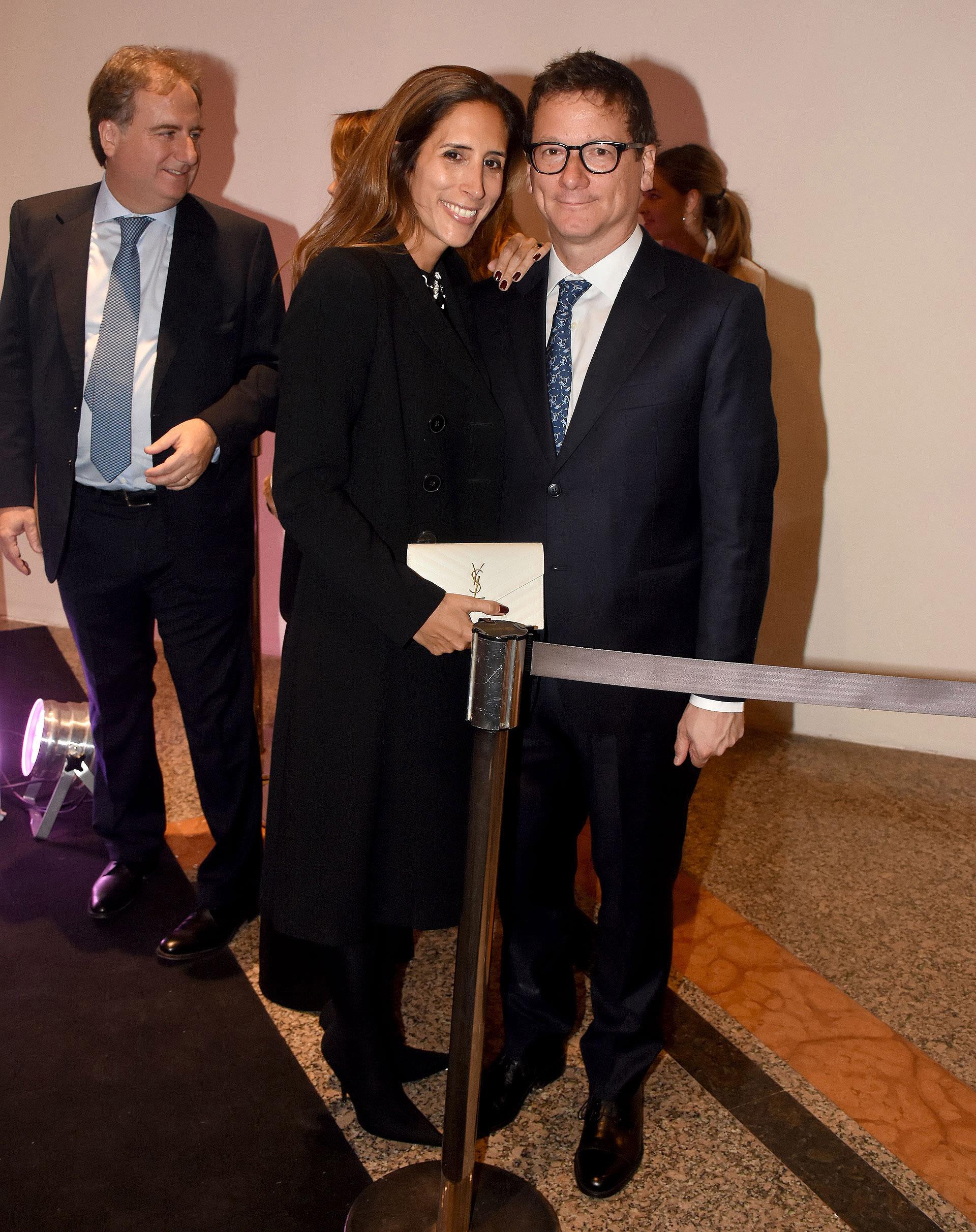 El presidente de HSBC Argentina, Gabriel Martino, y su mujer Florencia Perotti