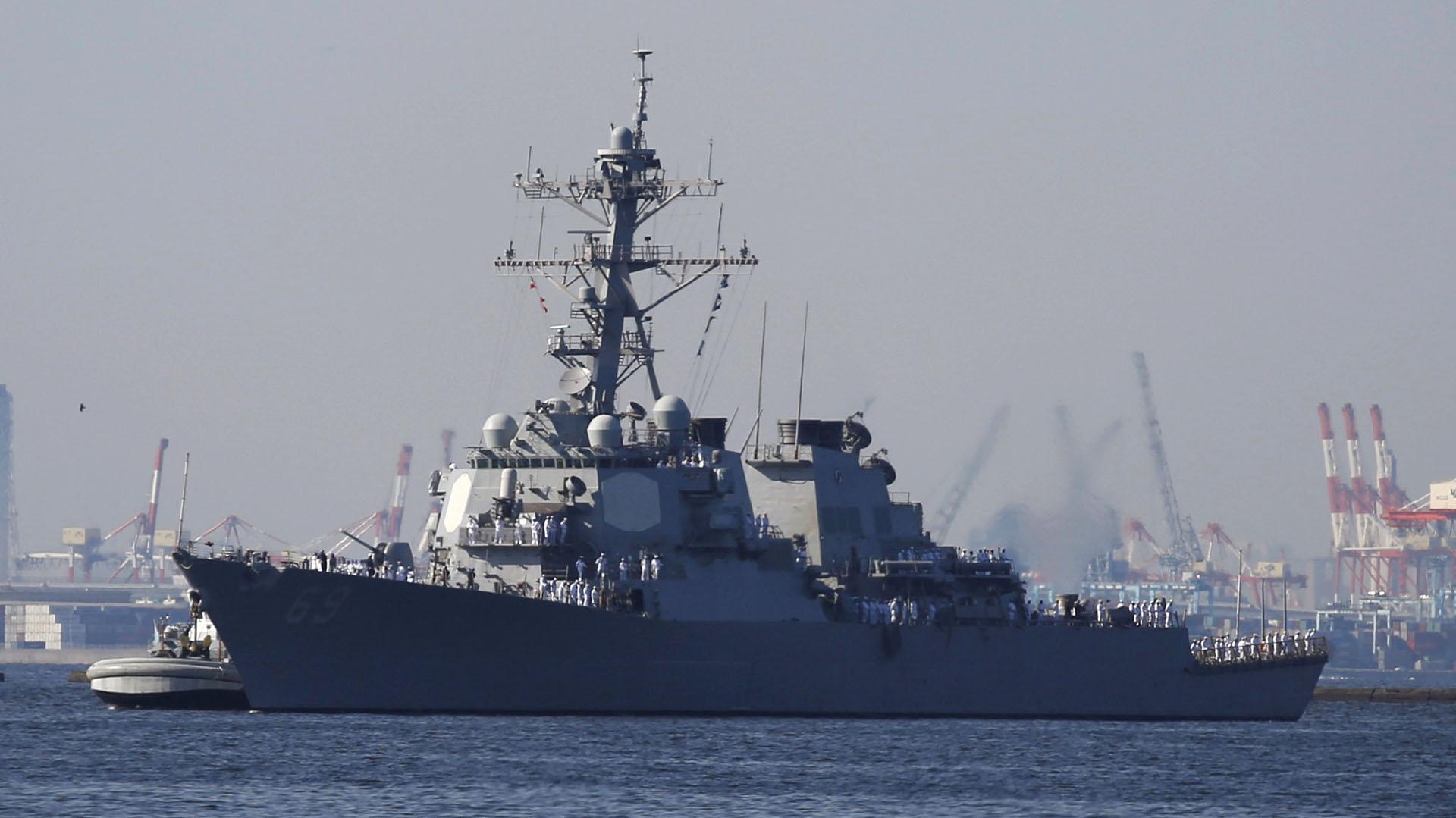El destructor USS Milius, de la clase Arleigh Burke (Reuters)