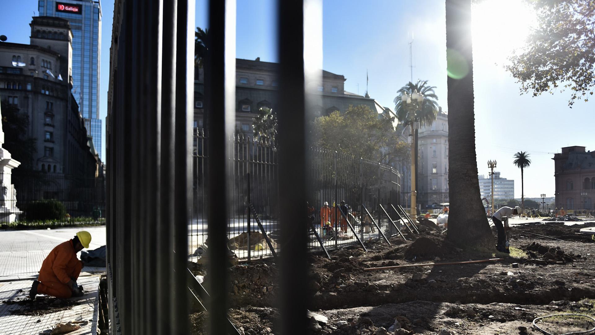 La renovación de la Plaza de Mayo comenzó en octubre del 2017