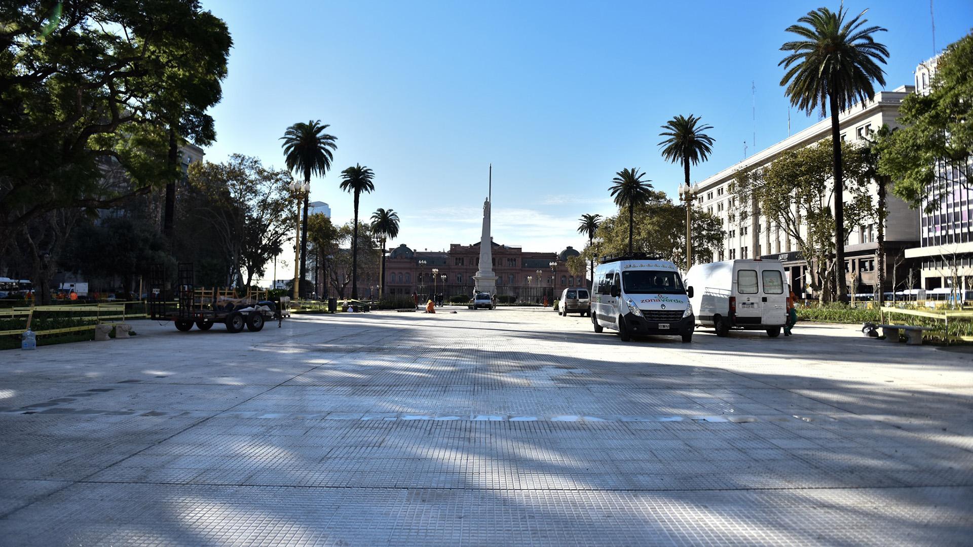 El gobierno porteño cambió todas las baldosas de la Plaza de Mayo