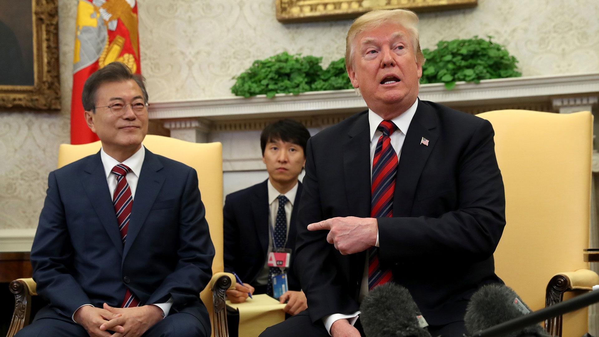 Moon Jae-in, presidente de Corea del Sur, y Donald Trump, presidente de EEUU (Reuters / Archivo)