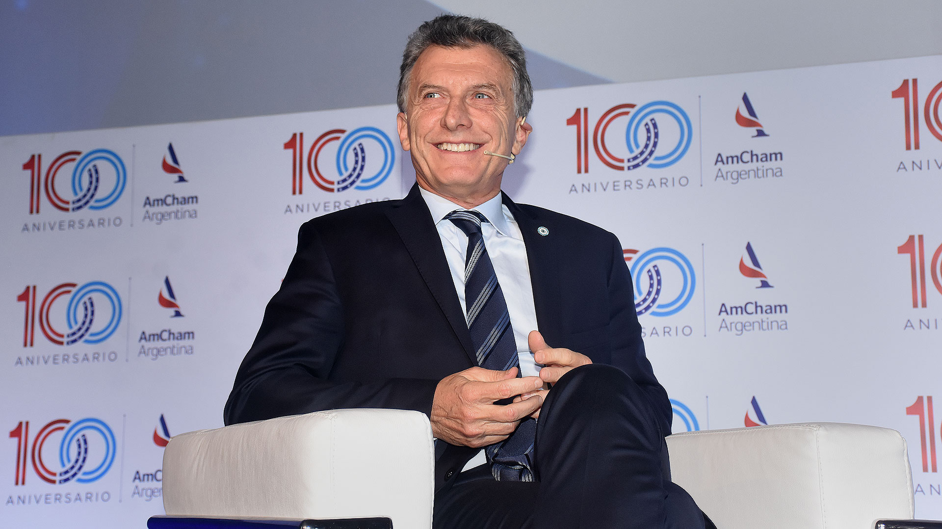 Mauricio Macri participó de la cena de gala por los 100 años de la Cámara de Comercio de los Estados Unidos en la Argentina