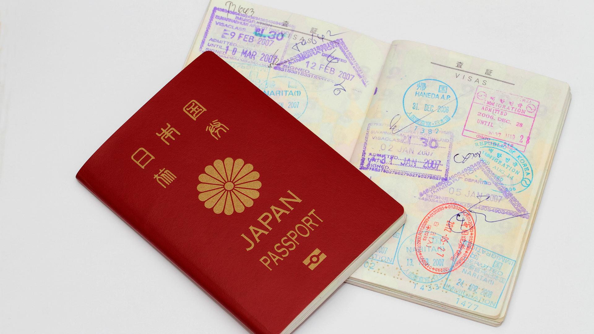 El pasaporte japonés es aceptado en 190 países sin necesidad de tramitar una visa (Getty)