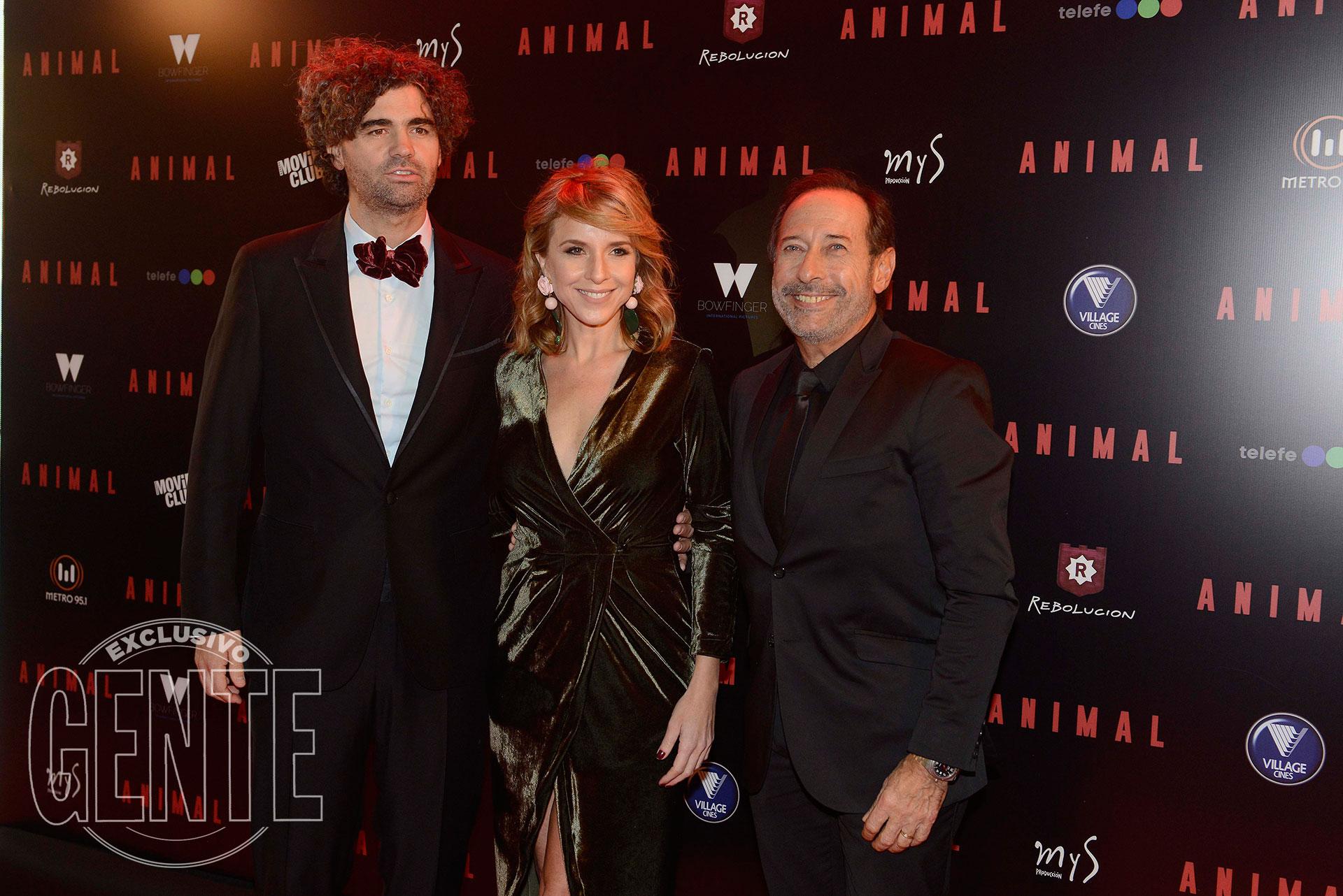 Armando Bo, Carla Peterson y Guillermo Francella (Foto Francisco Trombeta/GENTE)