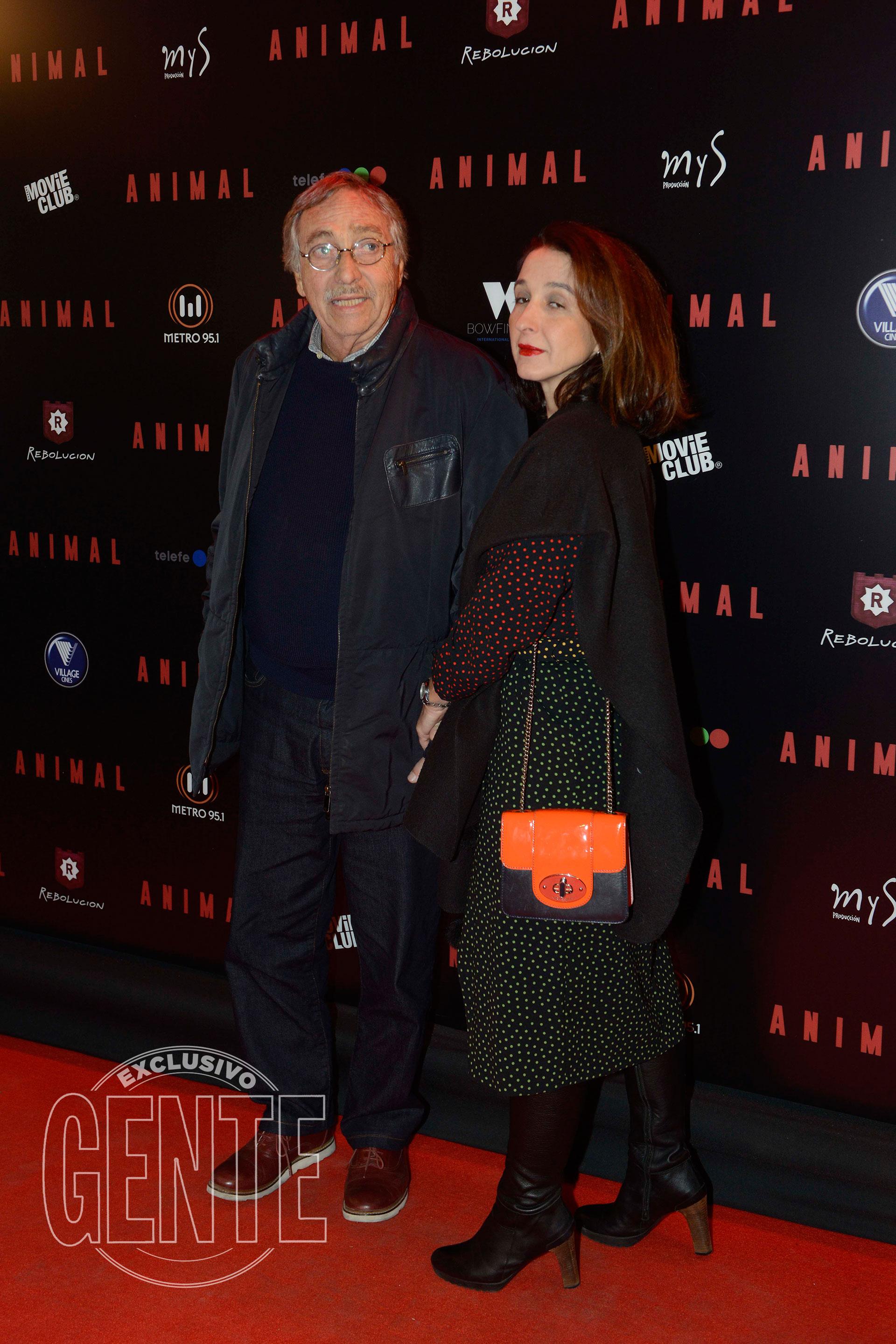 Luis Brandoni y su pareja actual Mónica López (Foto Francisco Trombeta/GENTE)