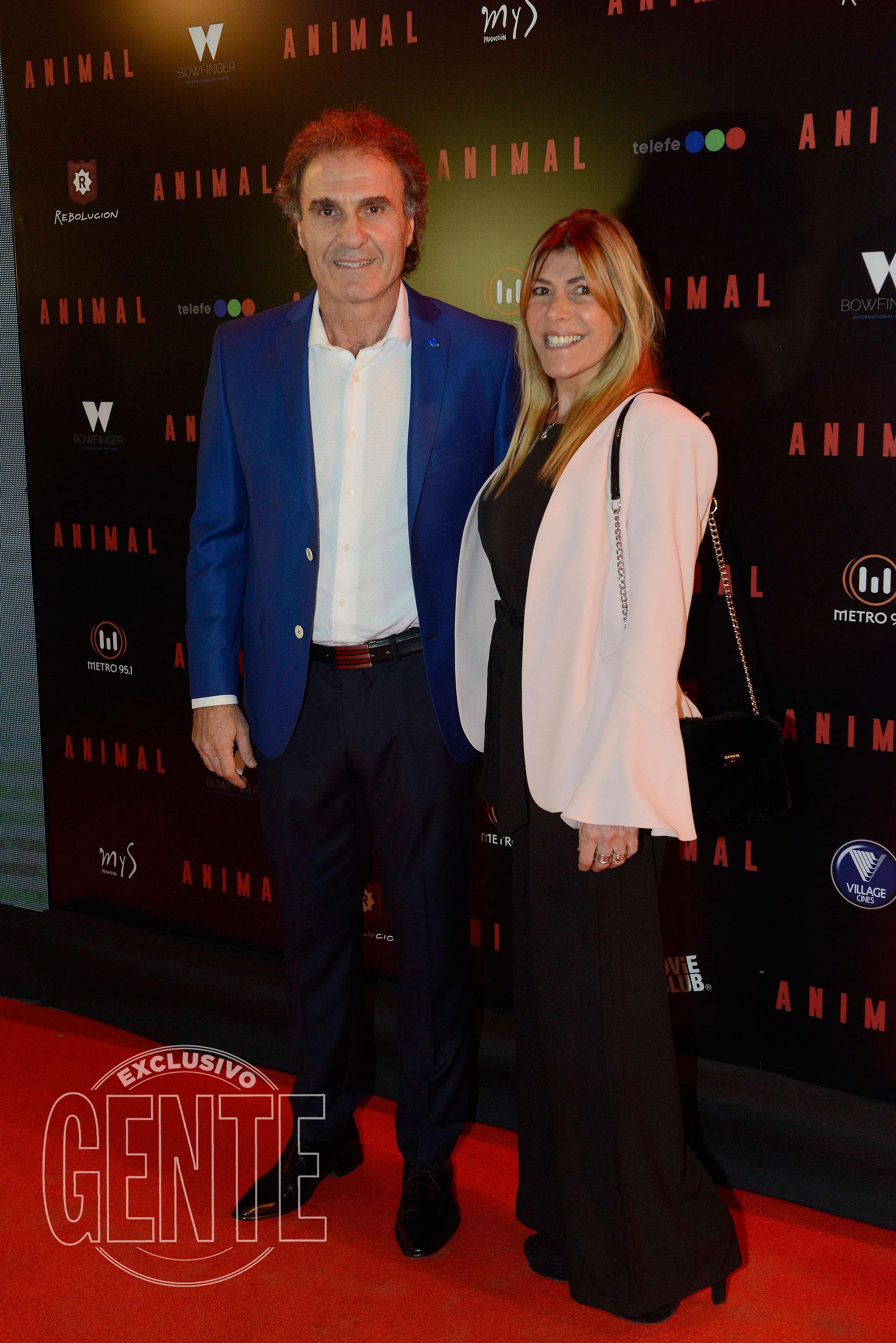 Oscar Ruggeri y Nancy Otero (Foto Francisco Trombeta/GENTE)