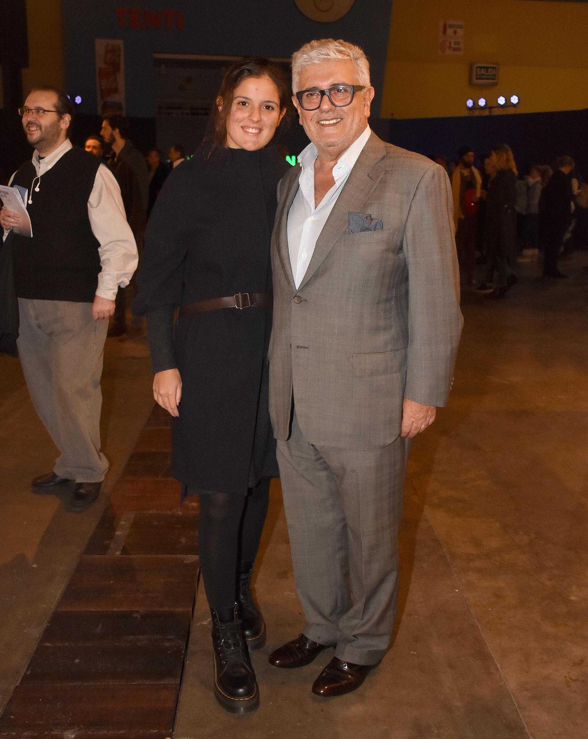 El empresario Carlos Gorosito y su hija María Luz