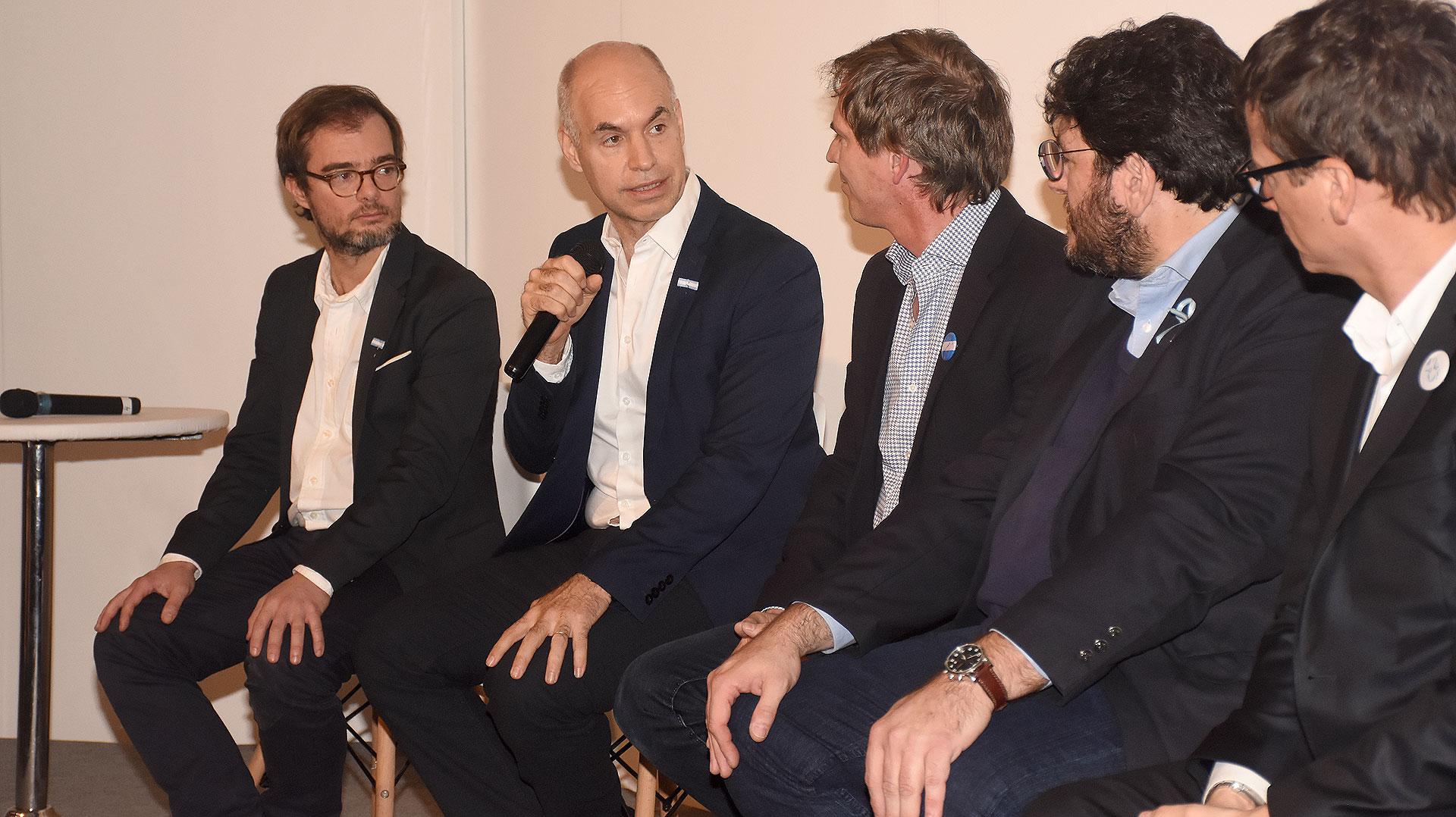 Horacio Rodríguez Larreta, jefe de Gobierno porteño, durante la apertura de arteBA 2018