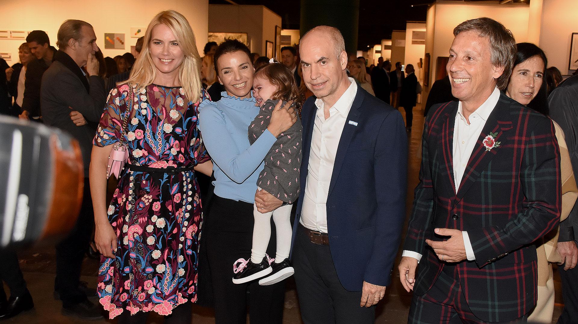 Valeria Mazza y Alejandro Gravier junto a Bárbara Diez, Horacio Rodríguez Larreta y su hija Serena