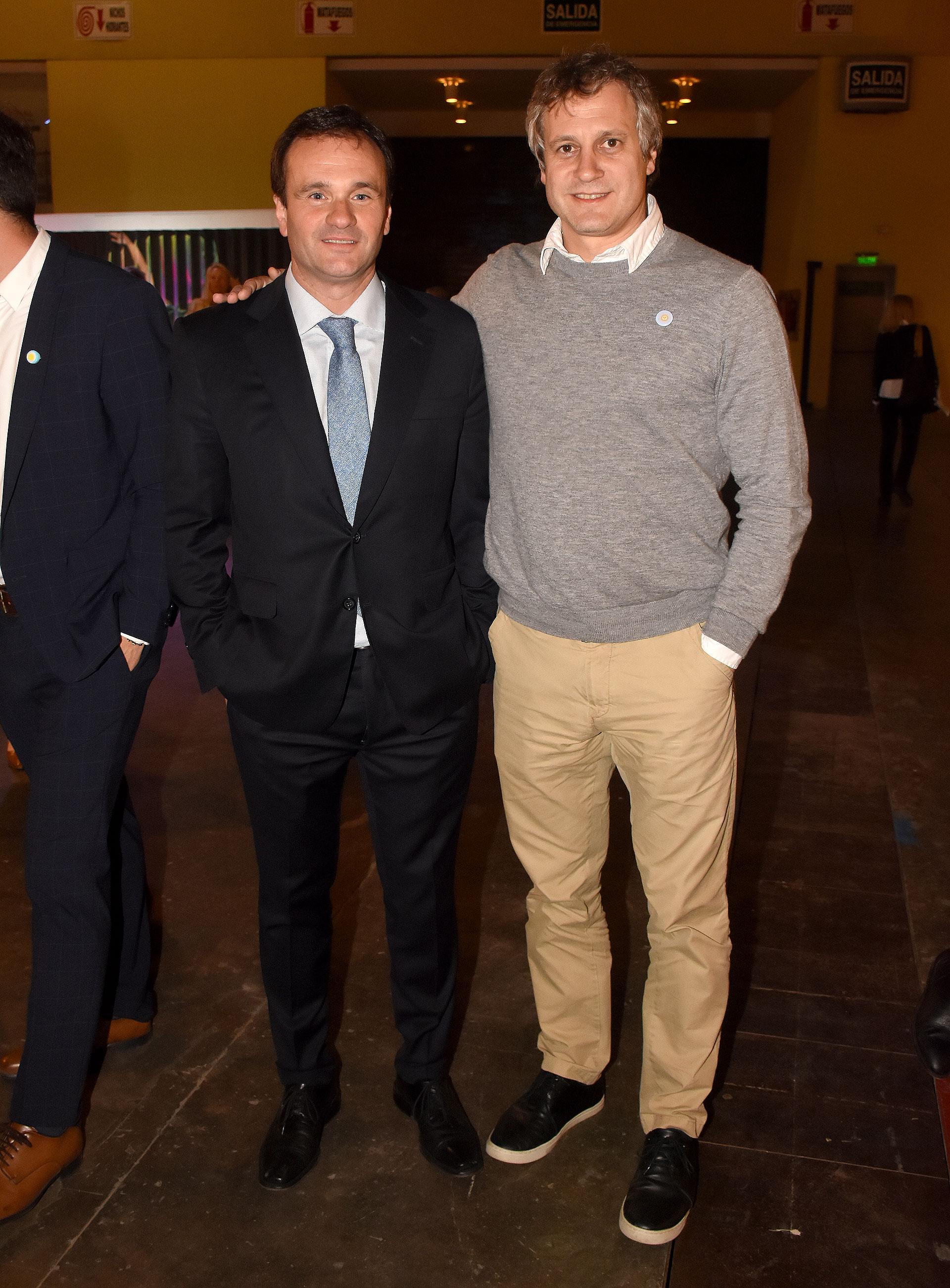 Juan Pablo Maglier, director de Relaciones Institucionales de La Rural, y Felipe Miguel, jefe de de Gabinete porteño