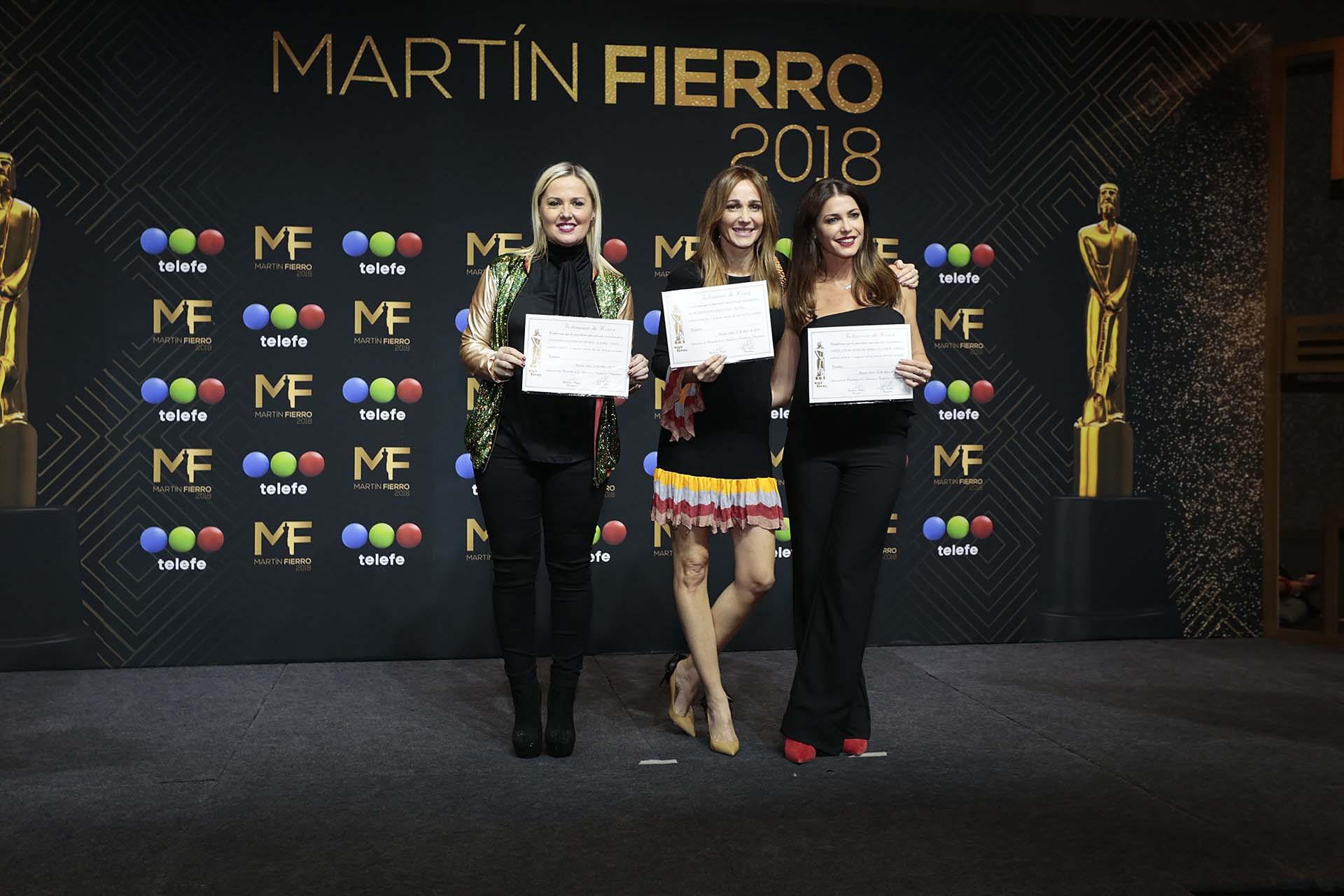 Pilar Smith, Verónica Lozano y Pamela David