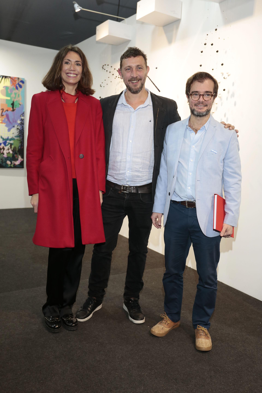 Verónica Quintana junto a Agustín Montes de Oca y Enrique Avogadro