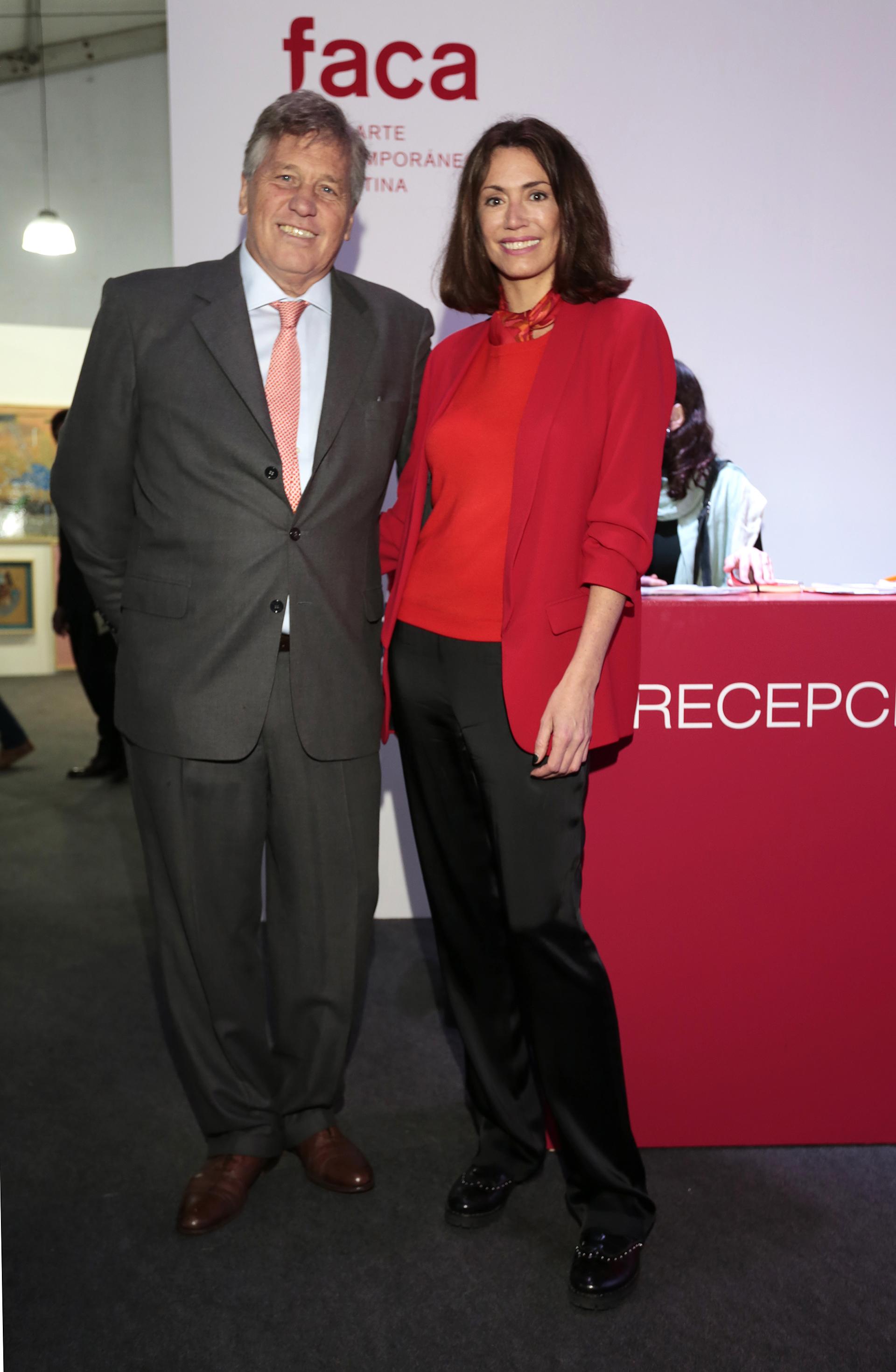 Antonio Bullrich, presidente de la Comisión de Carreras del Hipódromo de Palermo, y Verónica Quintana, jefa de Relaciones Públicas