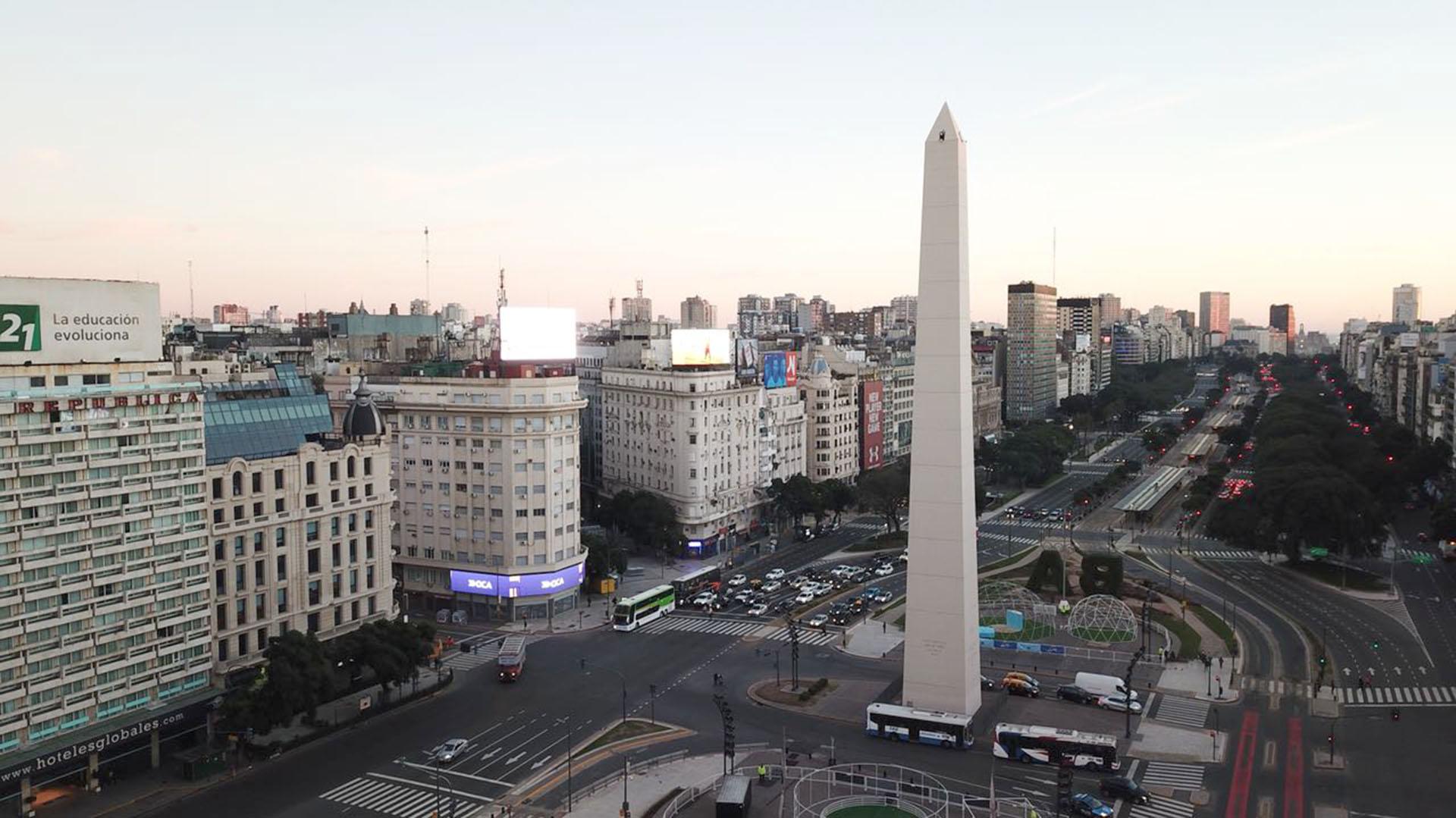 El Obelisco, epicentro de los festejos del ganador