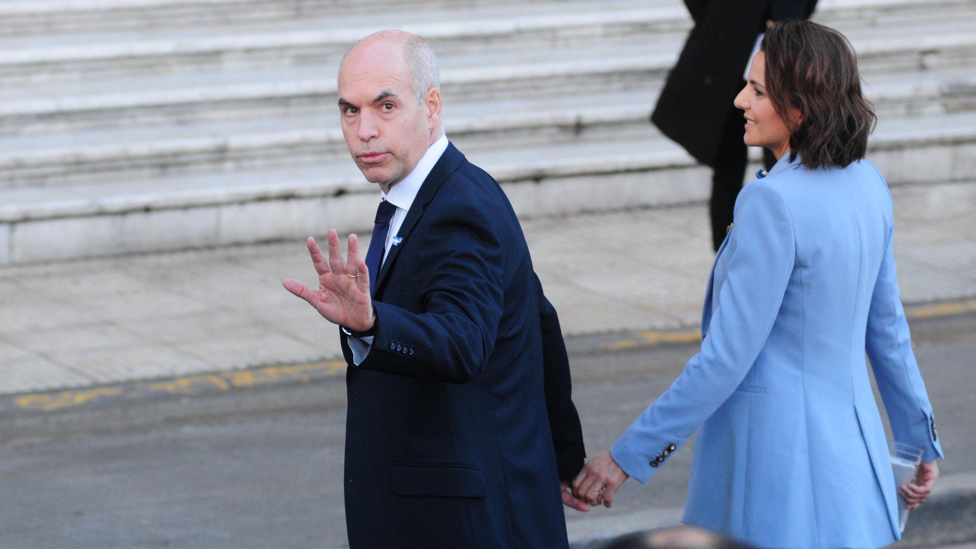 El jefe de Gobierno porteño Horacio Rodríguez Larreta y su esposa Bárbara Diez