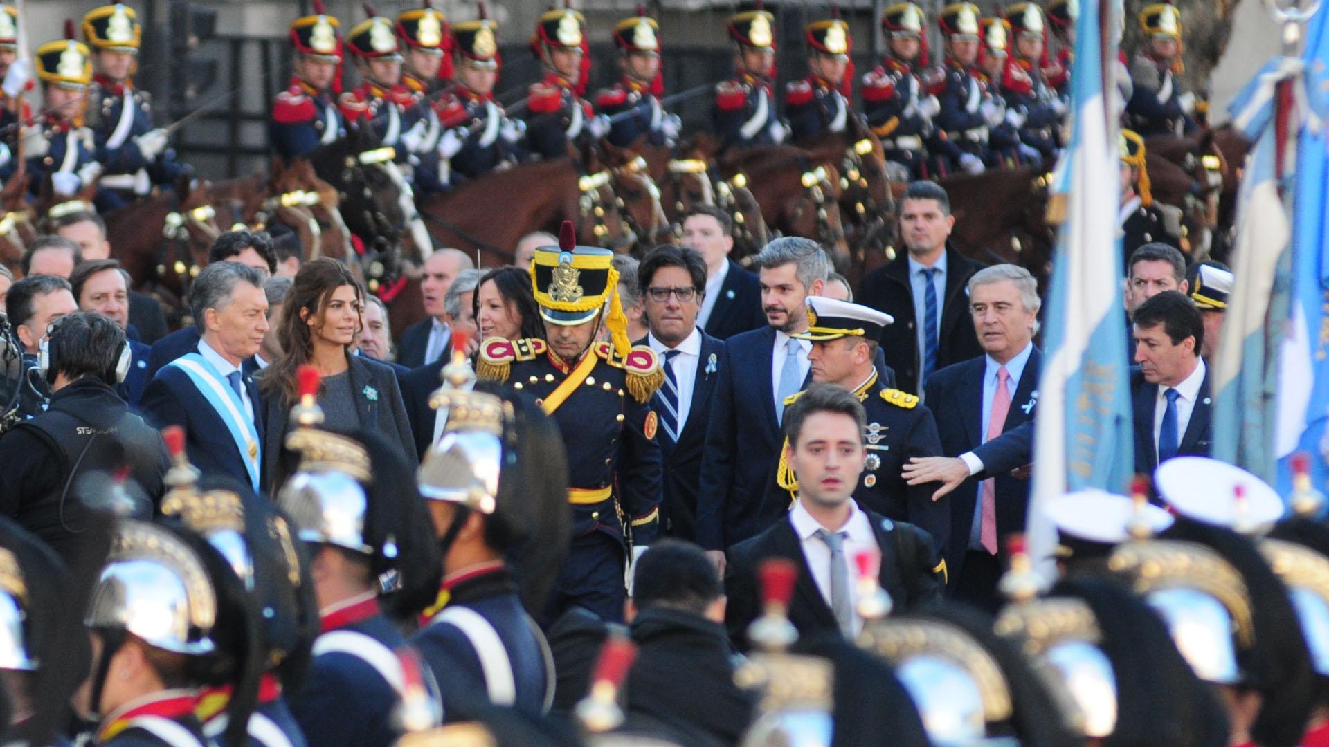 El ministro de Justicia Germán Garavano y el jefe de Gabinete Marcos Peña