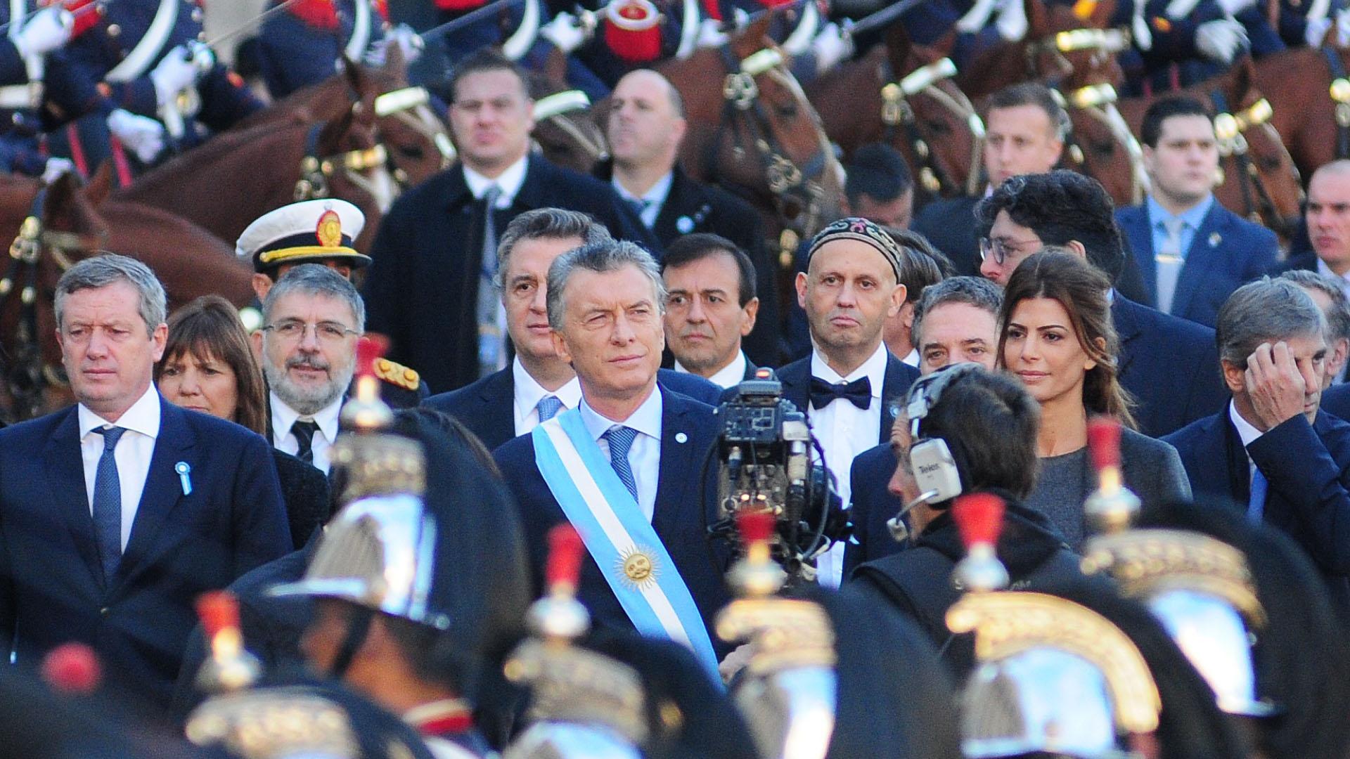 Macri acompañado del diputado Emilio Monzó y el ministro de Ambiente Sergio Bergman
