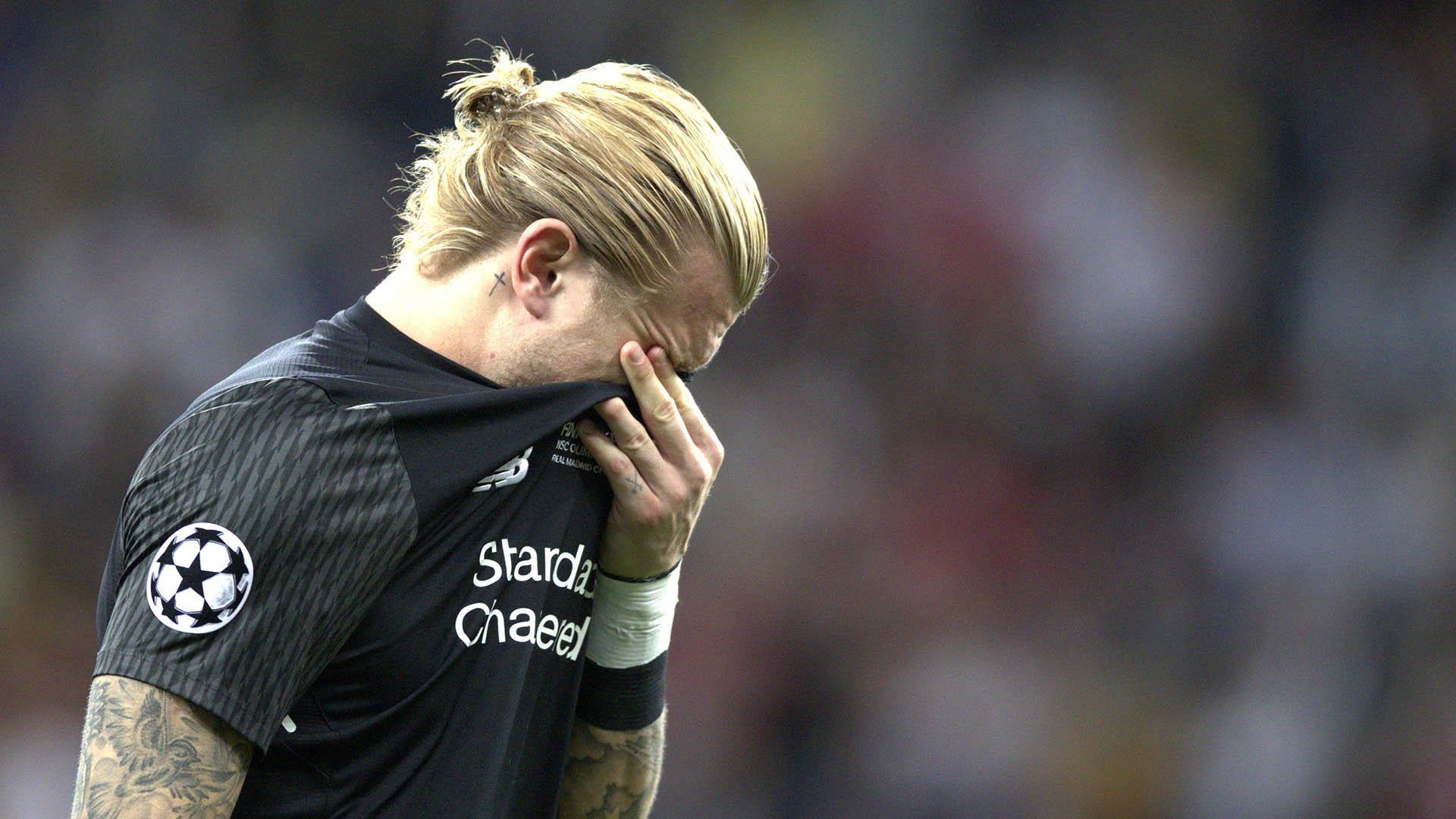 Karius rompió en llanto tras el partido (EFE)