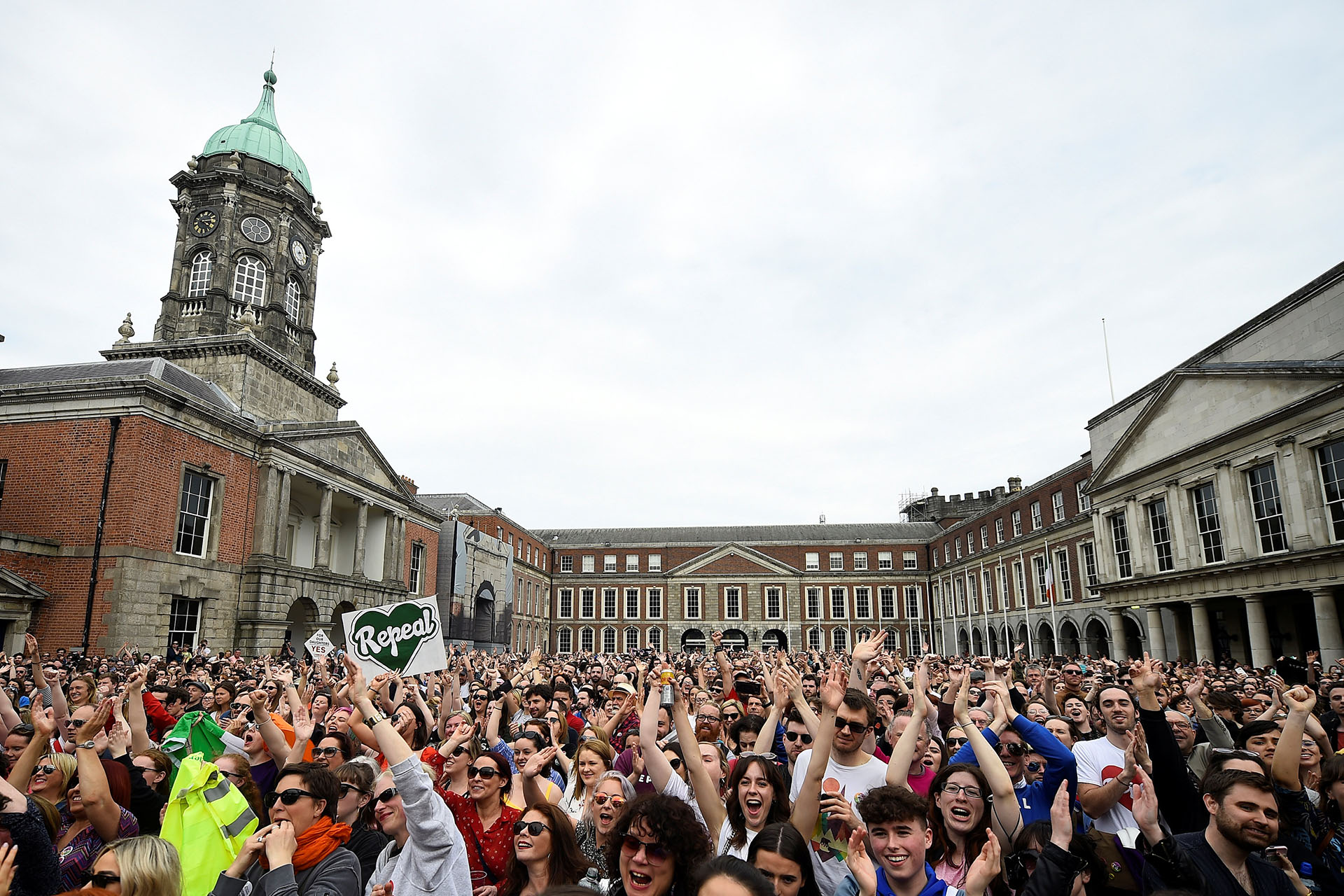 Los festejos fueron masivos en Dublin (REUTERS/Clodagh Kilcoyne)