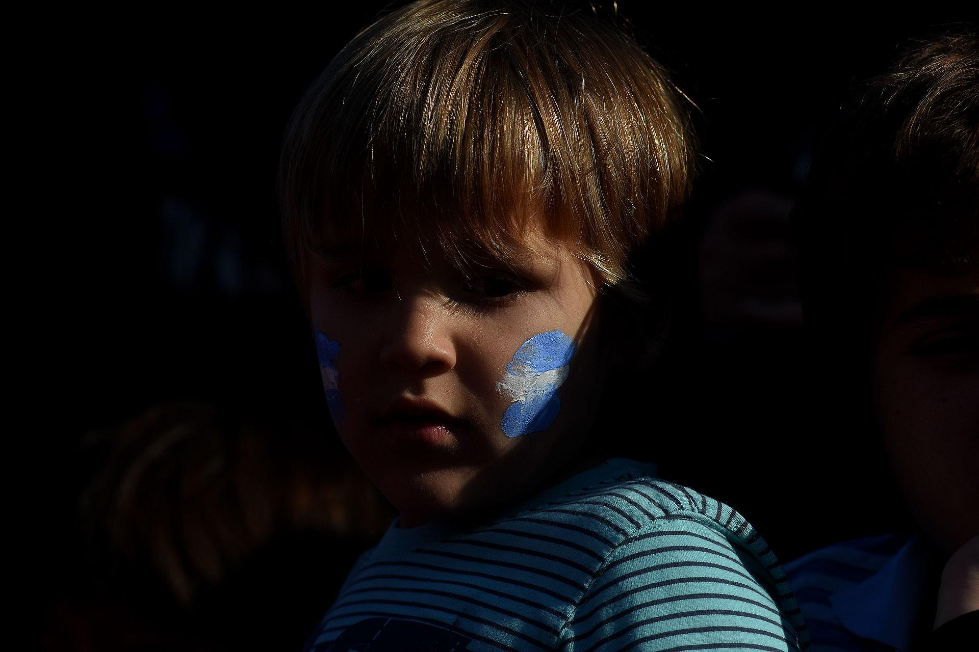 Miles de niños presenciaron el entrenamiento a puertas abiertas de la Selección Argentina. Ellos fueron los principales testigos en el Palacio Ducó, por disposición de una acción coordinada por AFA Social