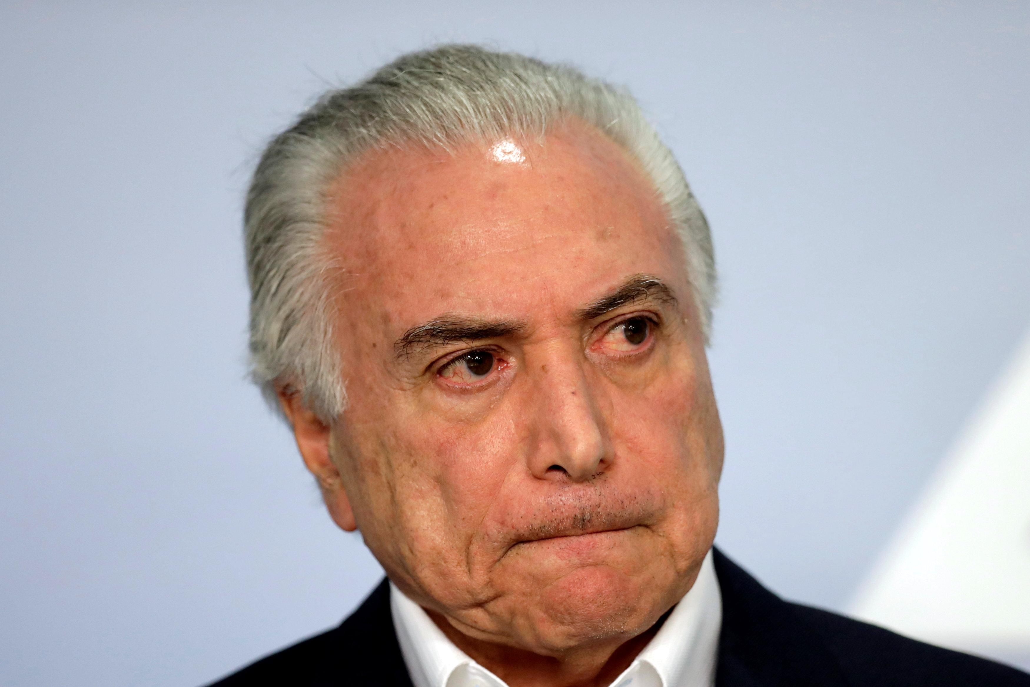 El presidente de Brasil Michel Temer tiene récords históricos de imagen negativa