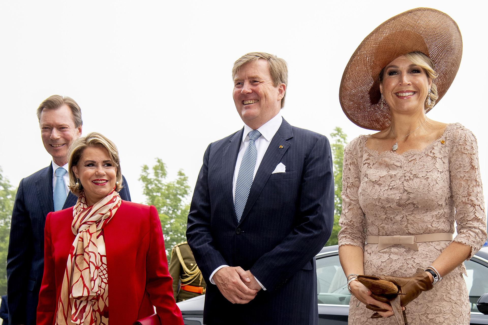 Com la sonrisa a flor de piel, Máxima cautivó a todos en su gira de tres días por Luxemburgo /// Fotos: Reuters-AFP