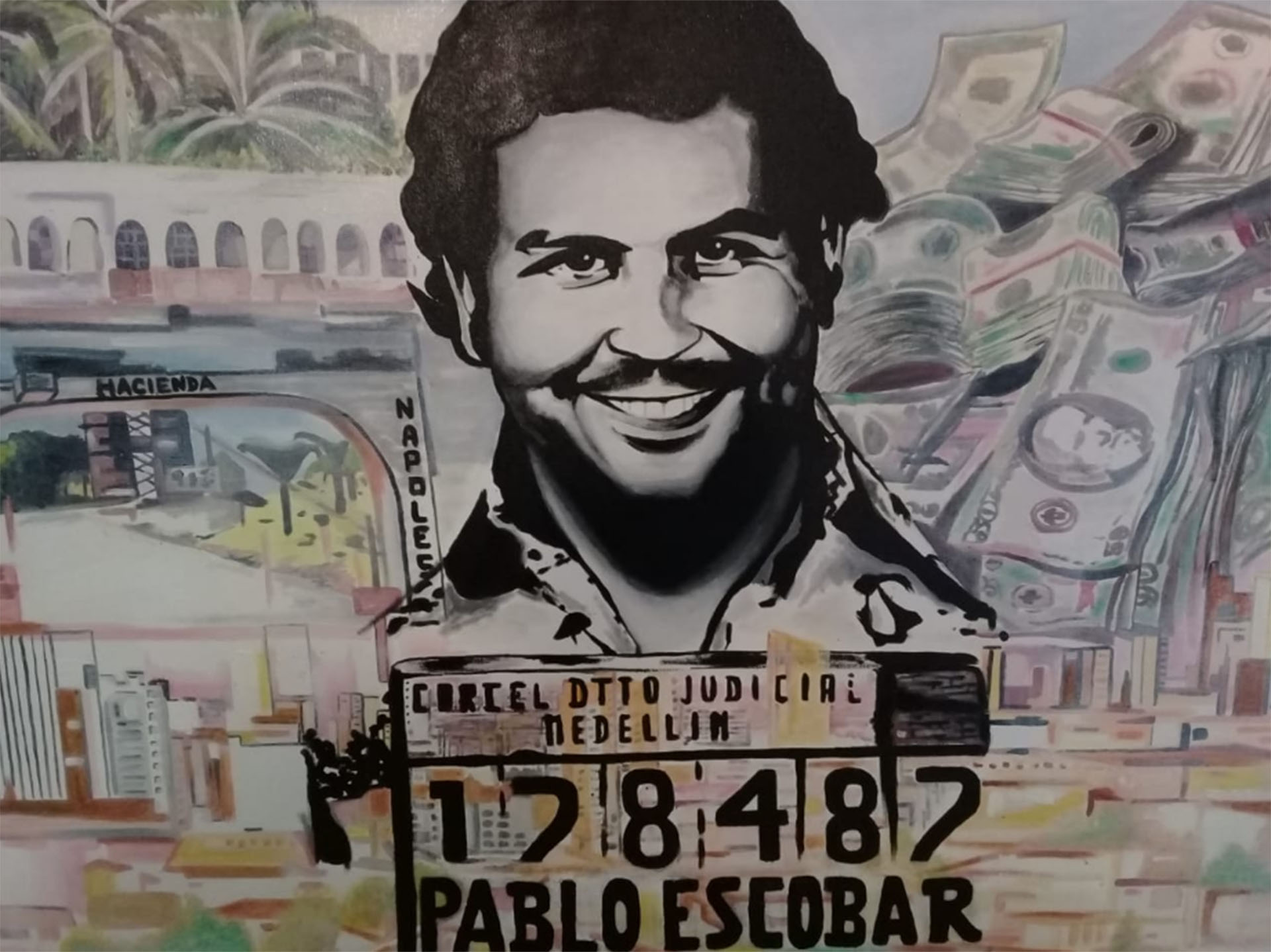 El mural de Pablo Escobar