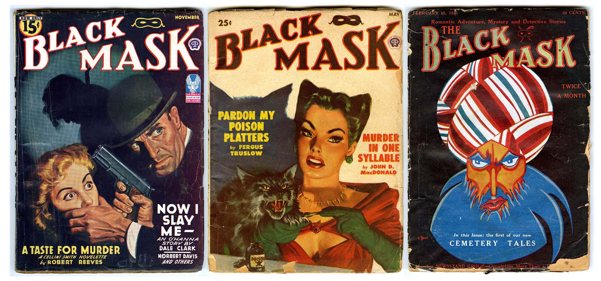 """Black Mask"", la revista donde se publicó la novela por entregas"