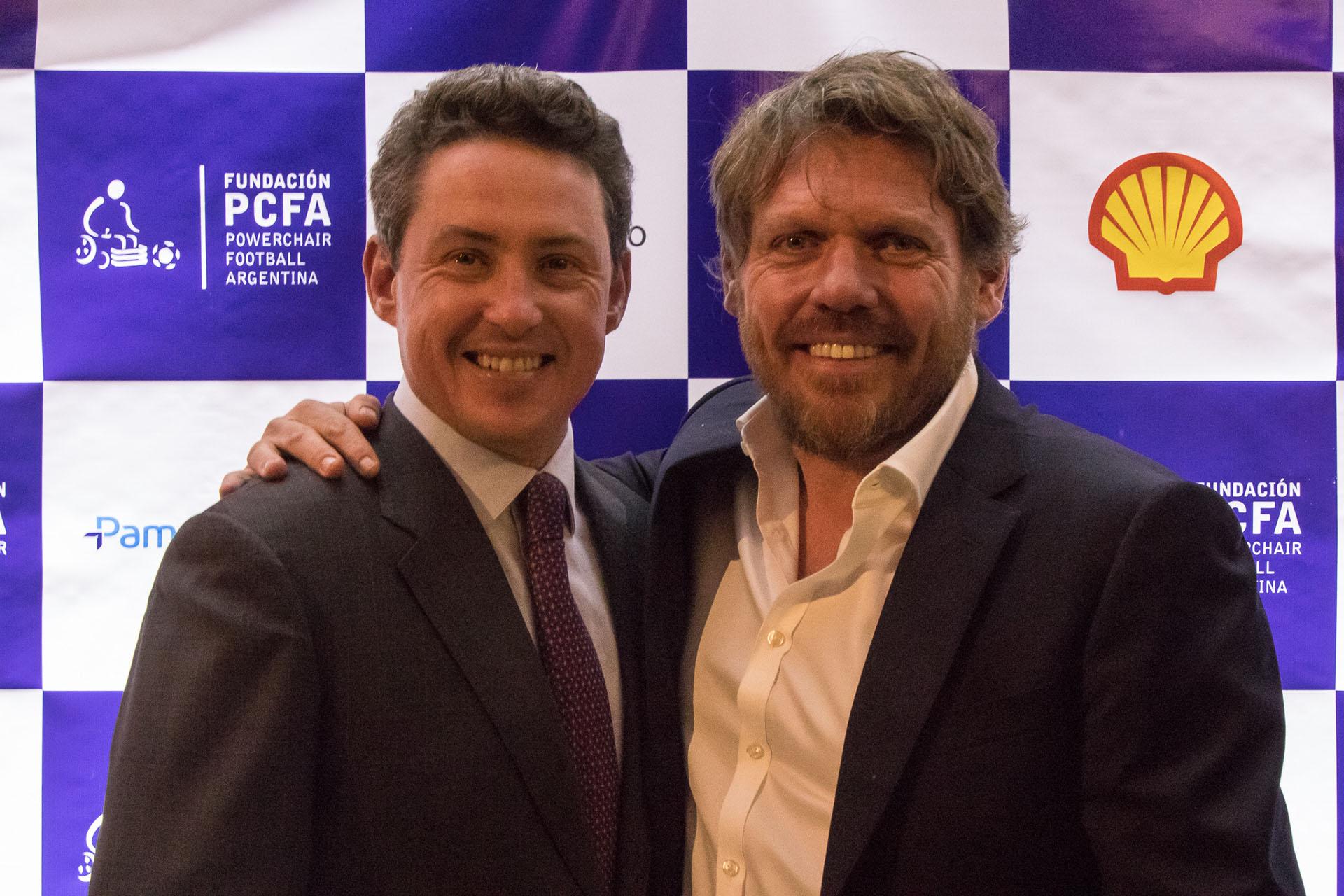 El ex embajador de los Estados Unidos en la Argentina, Noah Mamet, junto a Mariano Zegarelli