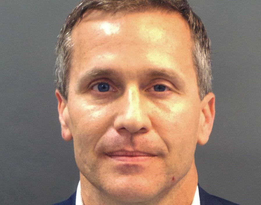 Eric Greitens en una foto tomada por la policía de St. Louis, Missouri, (Departamento de policía de St. Louis via REUTERS)