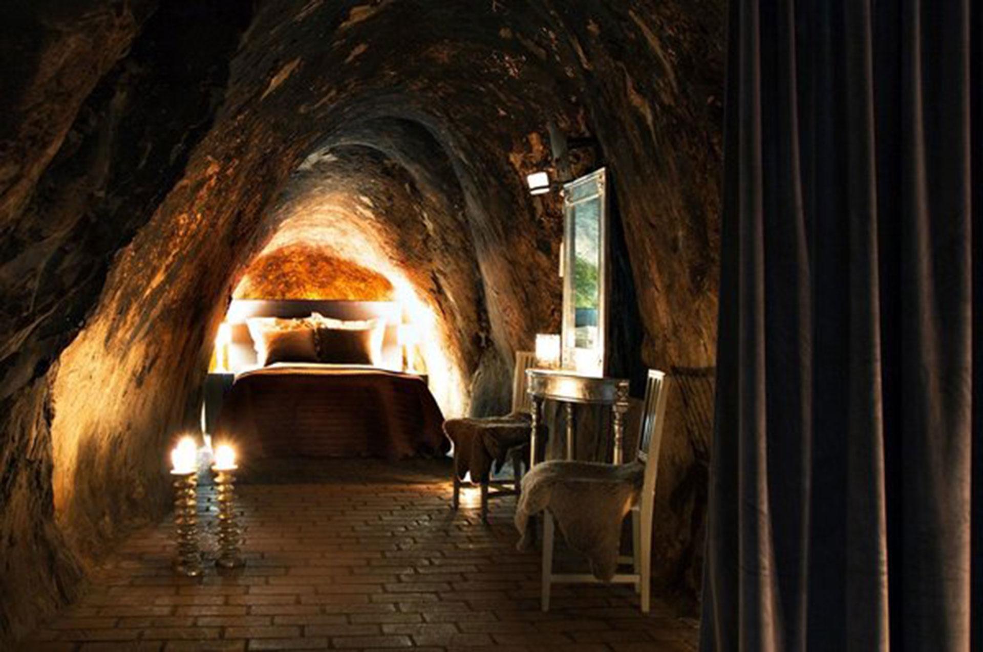 Sala Silvermine (Västmanland, Suecia). Construido en una vieja mina abandonada, los huéspedes puede dormir en habitaciones construidas a 150 metros de profundidad