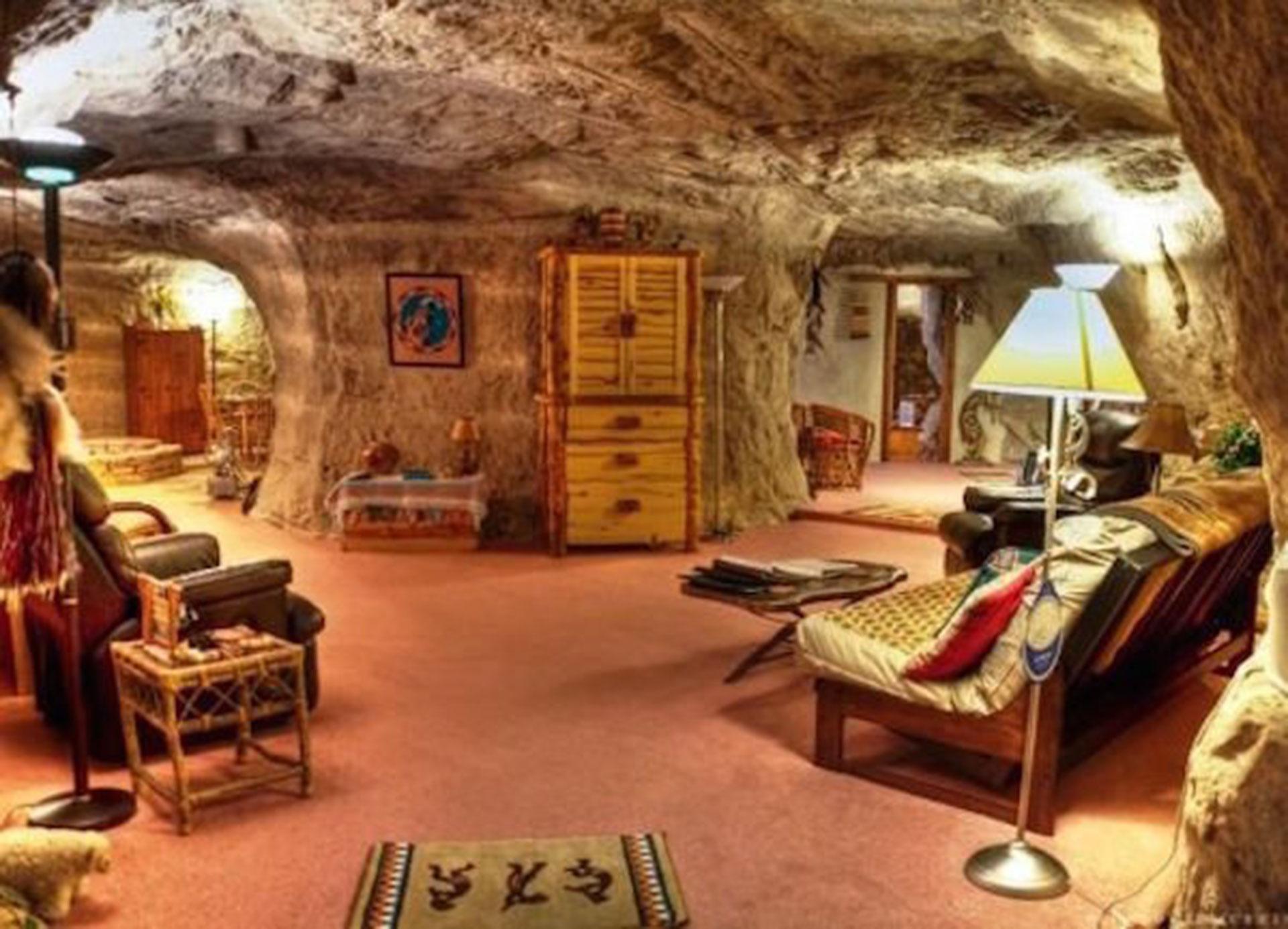 Kokopelli's Cave Bed & Breakfast (Farmington, en Nuevo México, Estados Unidos). Está construido dentro de una cueva, en una montaña del Parque nacional Mesa Verde