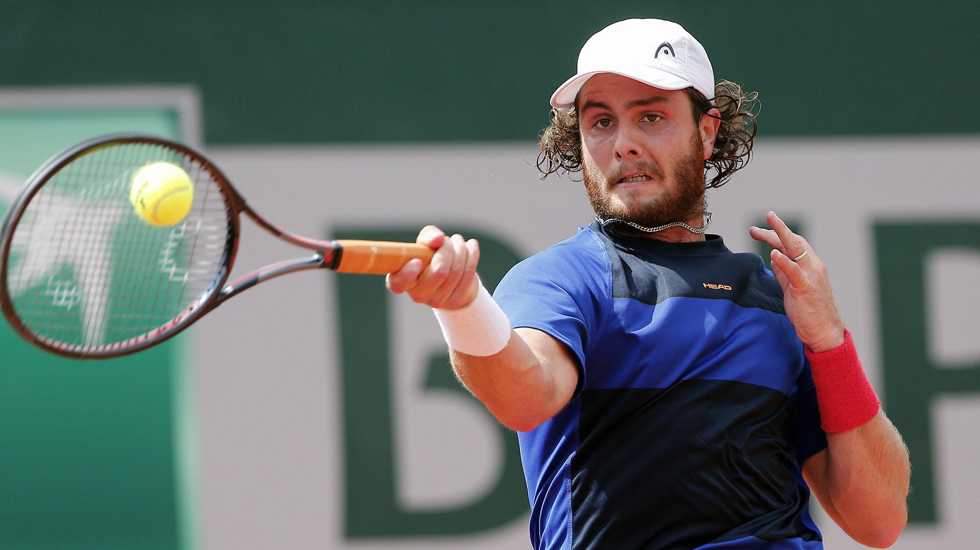 Trungelliti cayó ante el italiano Cecchinato en la segunda ronda de Roland Garros (AP)